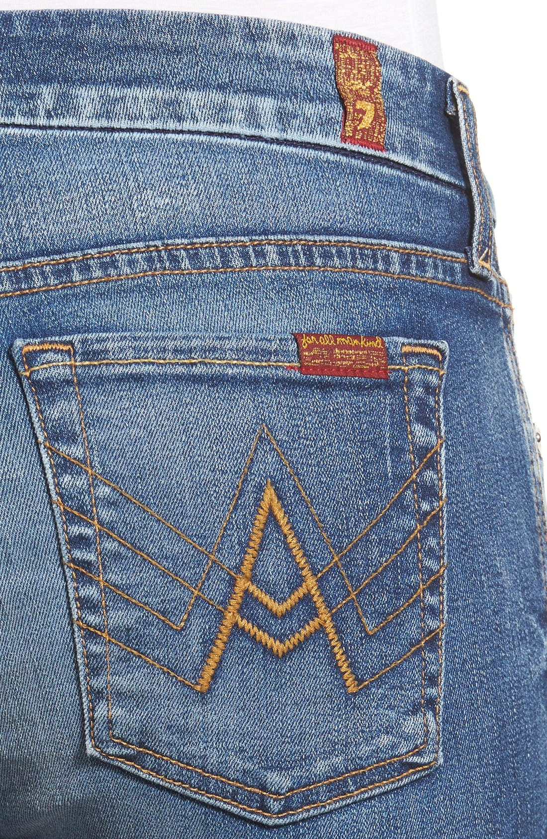 Alternate Image 4  - 7 For All Mankind® A-Pocket Flare Jeans (Bright Indigo)