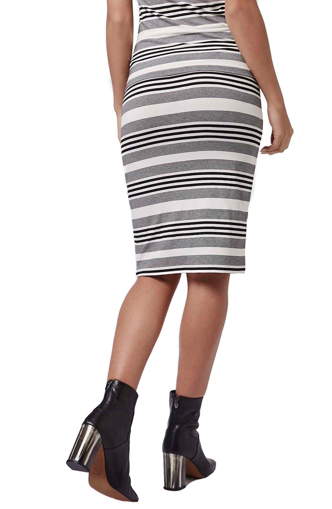 Alternate Image 3  - Topshop Stripe Jersey Tube Skirt (Petite)