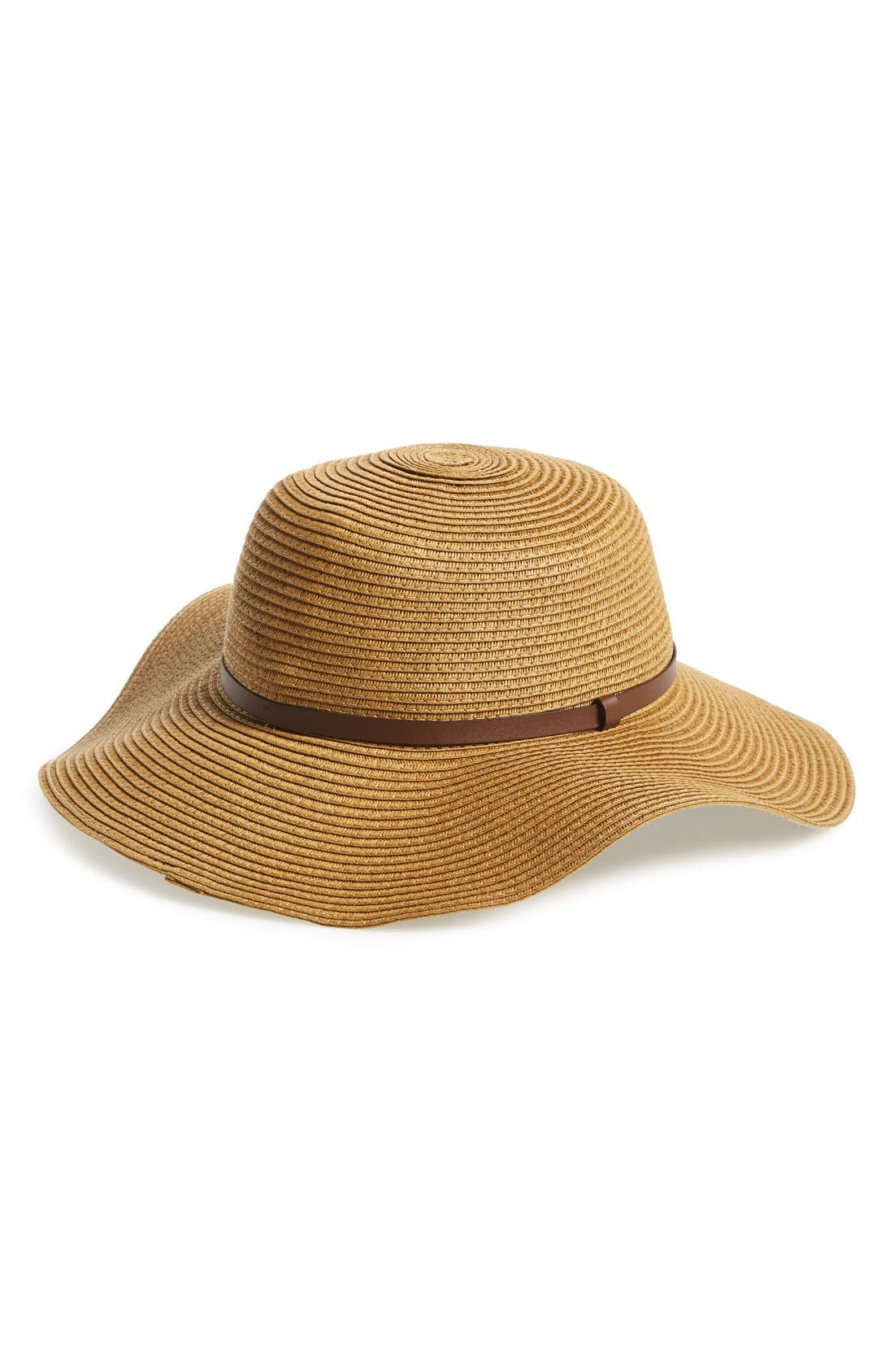 Alternate Image 1 Selected - Nordstrom Braided Straw Floppy Hat