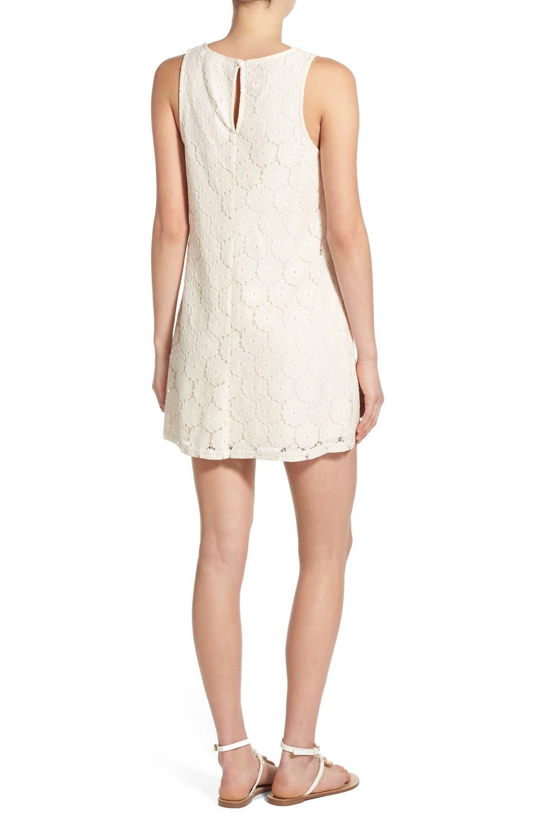 Alternate Image 2  - Speechless 'Daisy' Lace Sleeveless Shift Dress