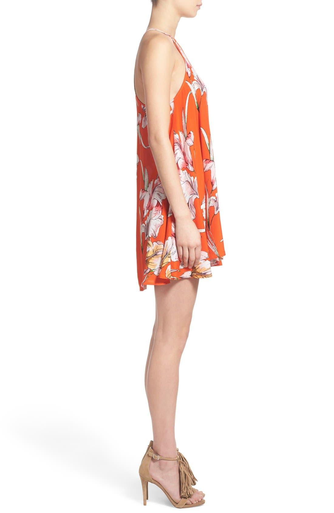 Alternate Image 3  - MINKPINK 'Tangerine Dream' Floral Print Swing Dress
