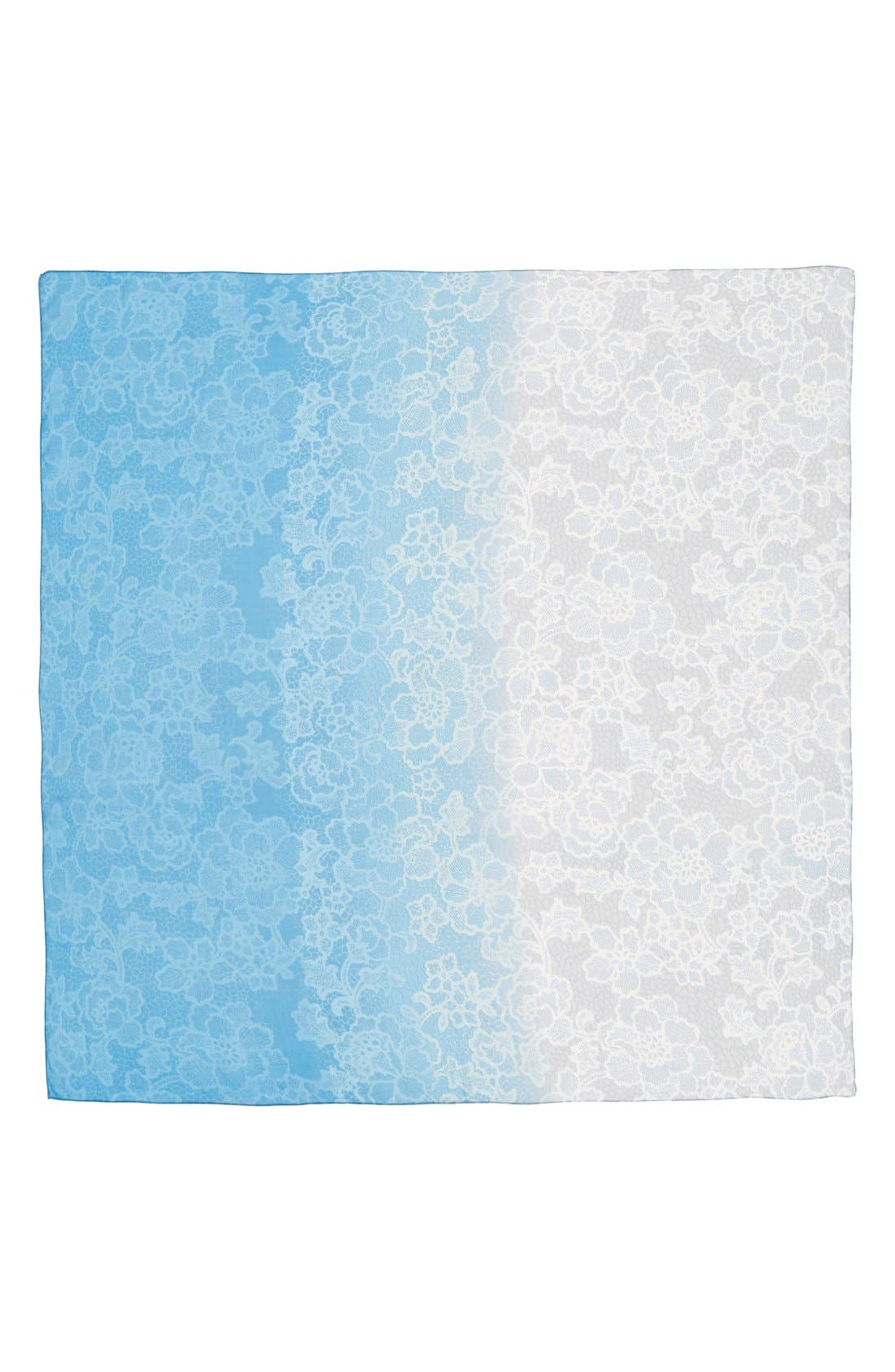 Alternate Image 2  - Nordstrom 'Lace Haze' Silk Chiffon Square Scarf