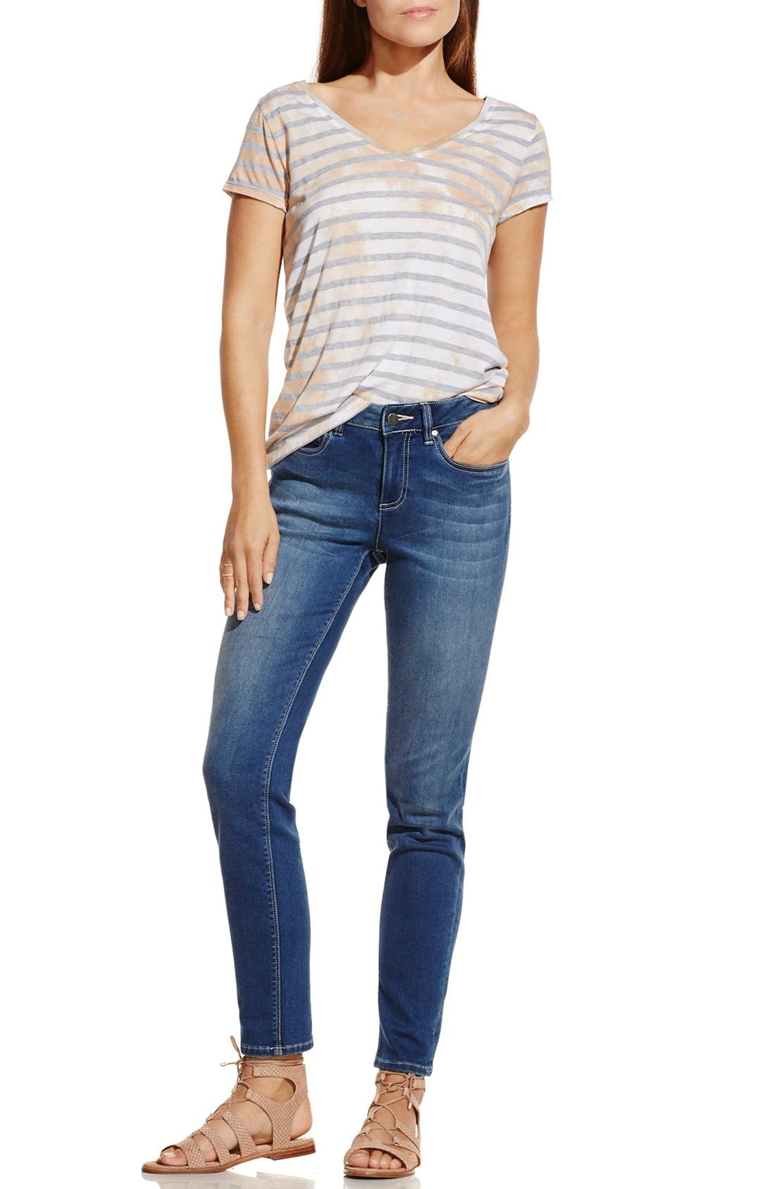 Alternate Image 3  - Two by Vince Camuto 'Painterly Blotches' Stripe Tee