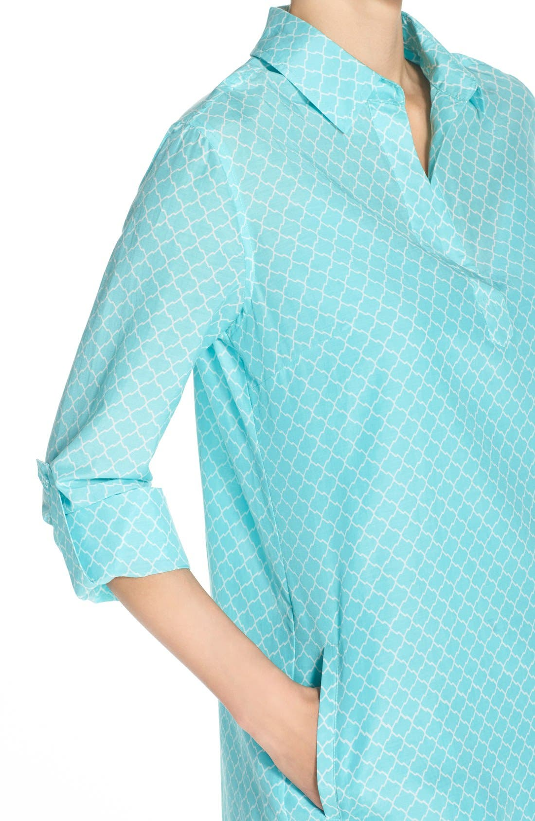 Alternate Image 4  - KUT from the Kloth Print Chambray Shirtdress