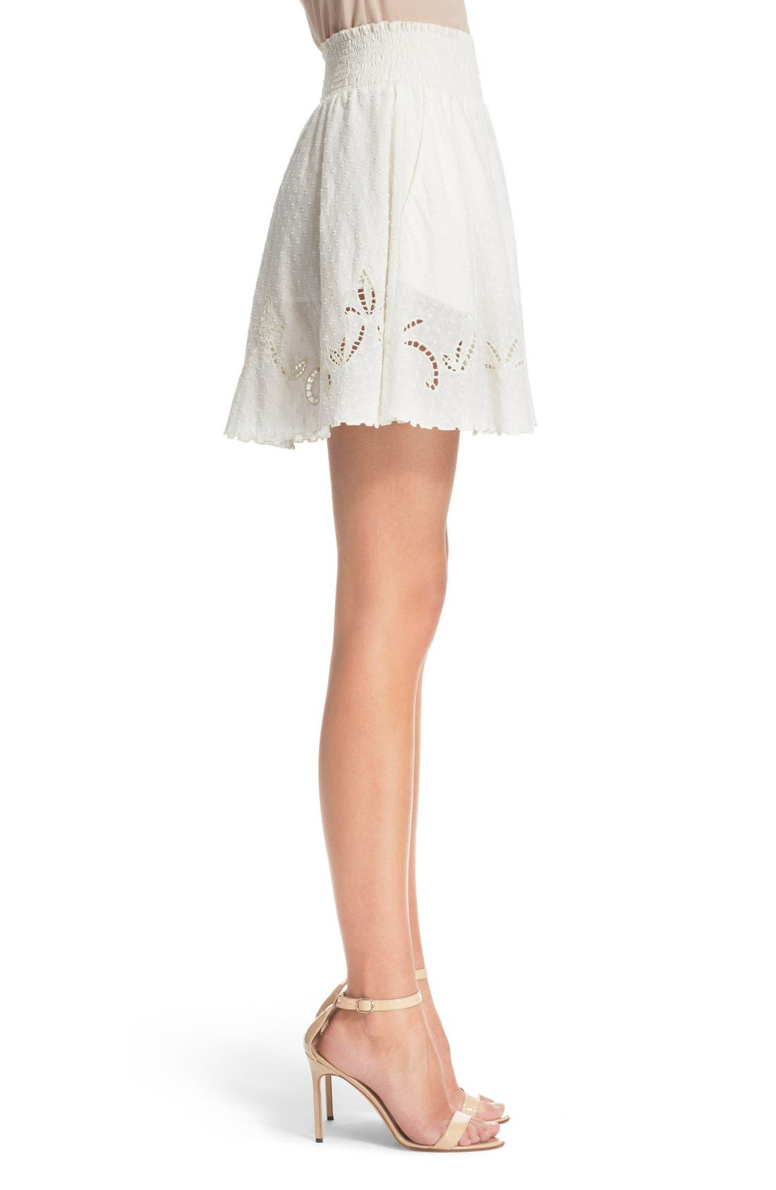 Alternate Image 3  - The Kooples Embroidered Cotton Dobby Skirt