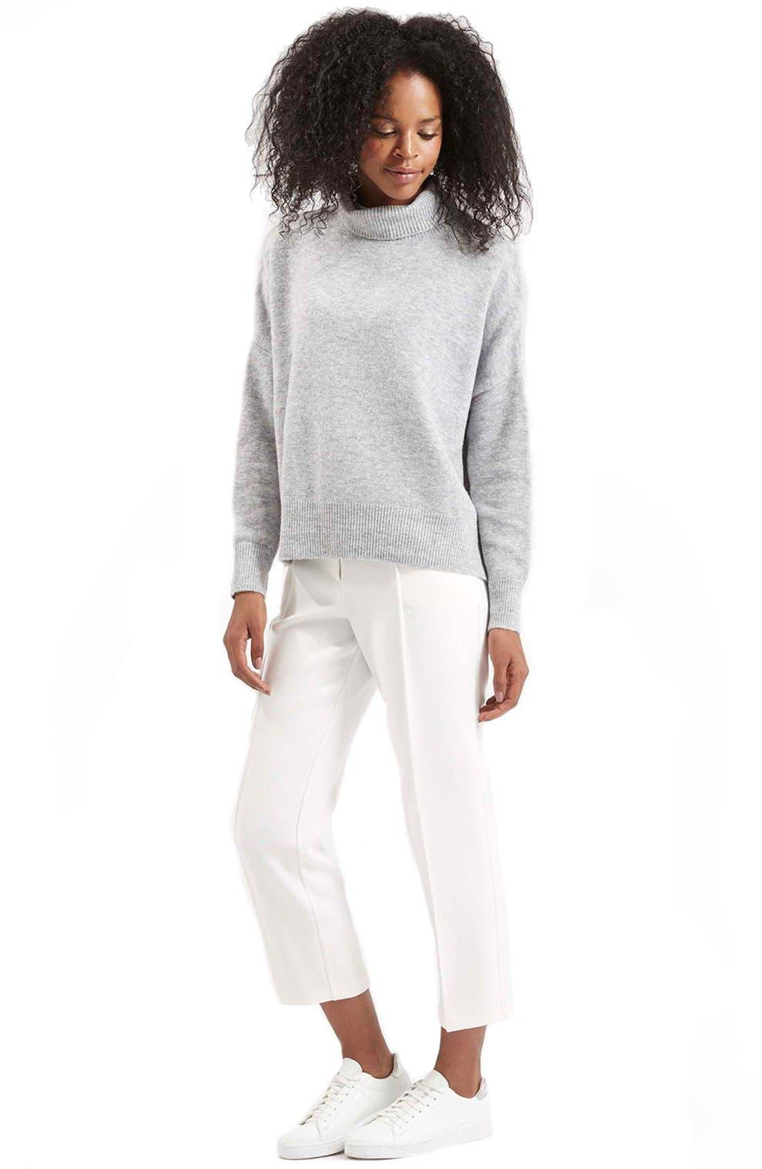 Alternate Image 2  - TopshopBack Zip Turtleneck Sweater