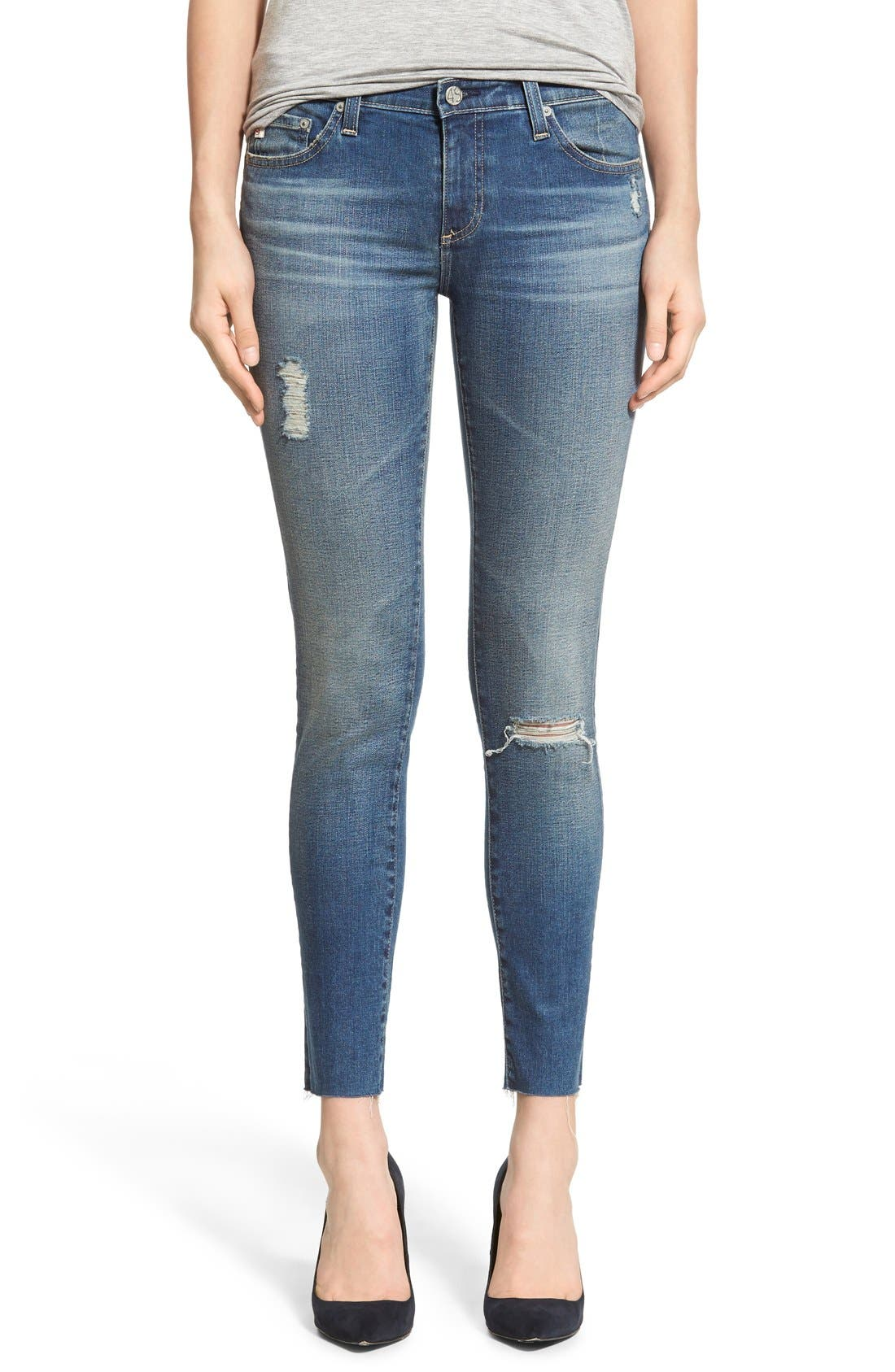 AG The Legging Ankle Jeans (18 Years Destroyed)