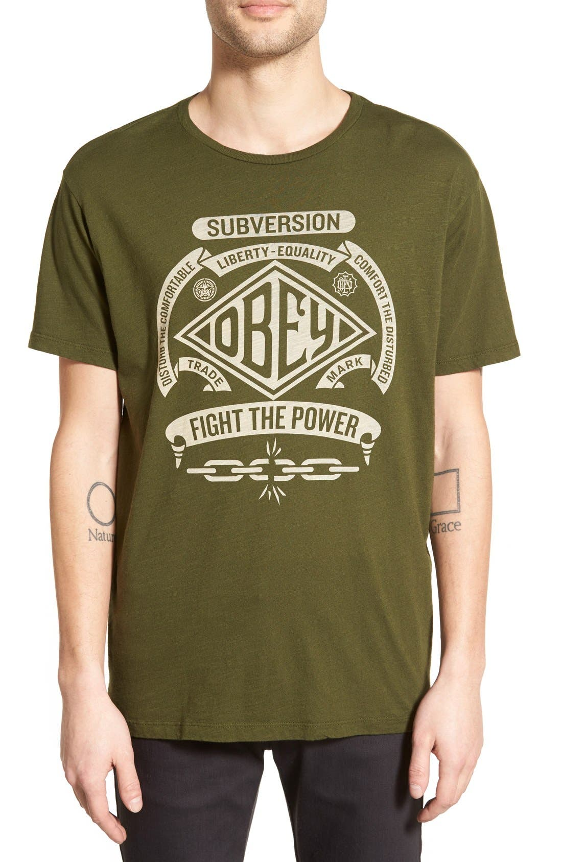 Alternate Image 1 Selected - Obey 'Disturb the Comfortable' Graphic T-Shirt