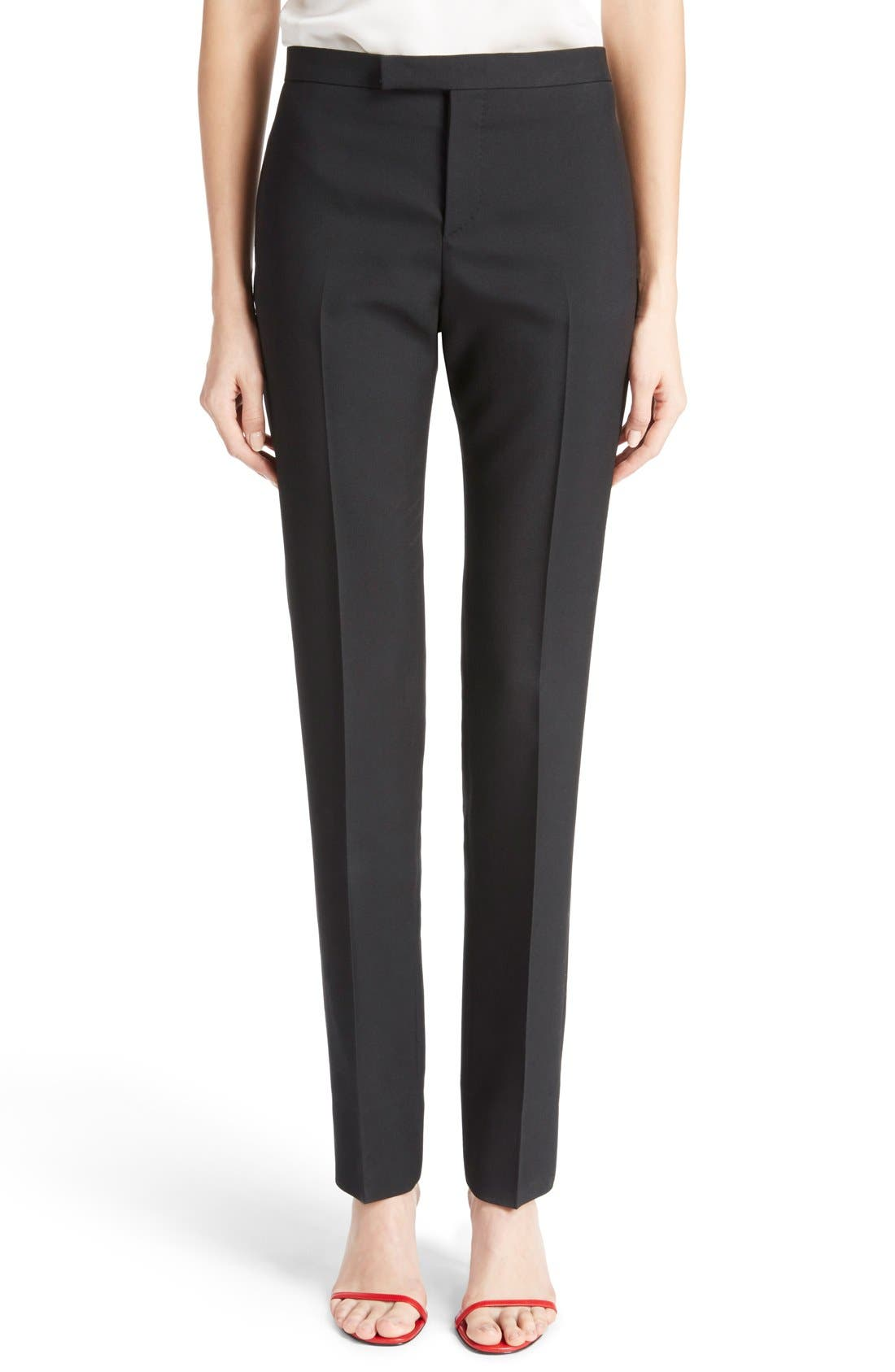 Main Image - Saint Laurent Skinny Wool Gabardine Pants