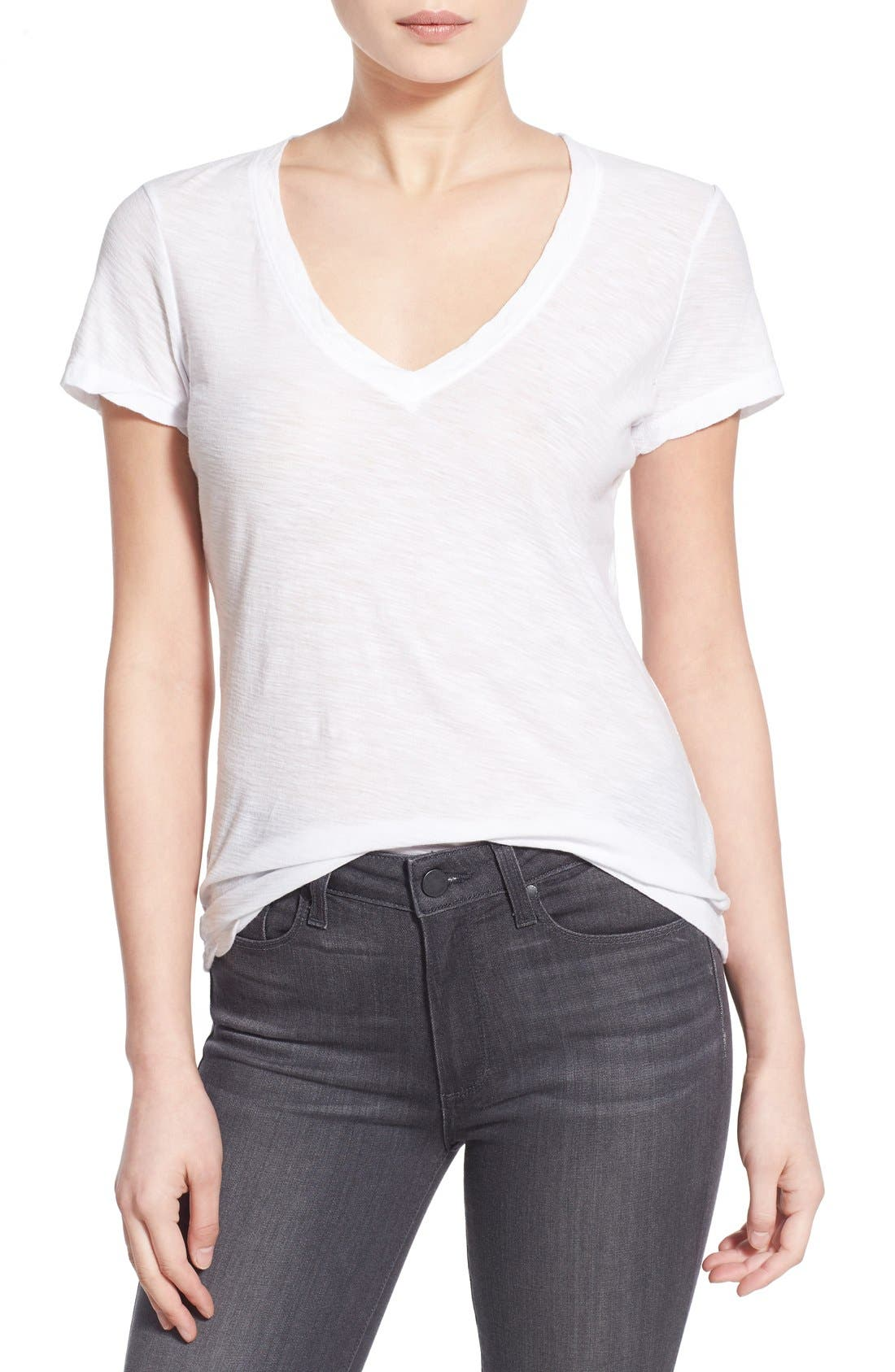 James Perse Slub Cotton V-Neck Tee