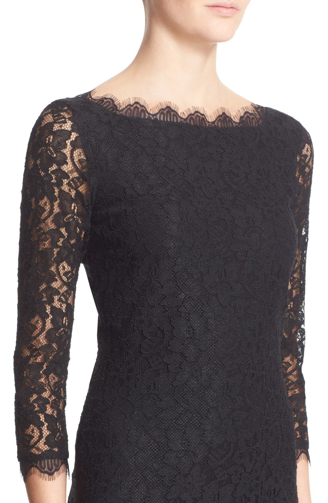 Alternate Image 4  - Diane von Furstenberg 'Zarita' Lace Sheath Dress