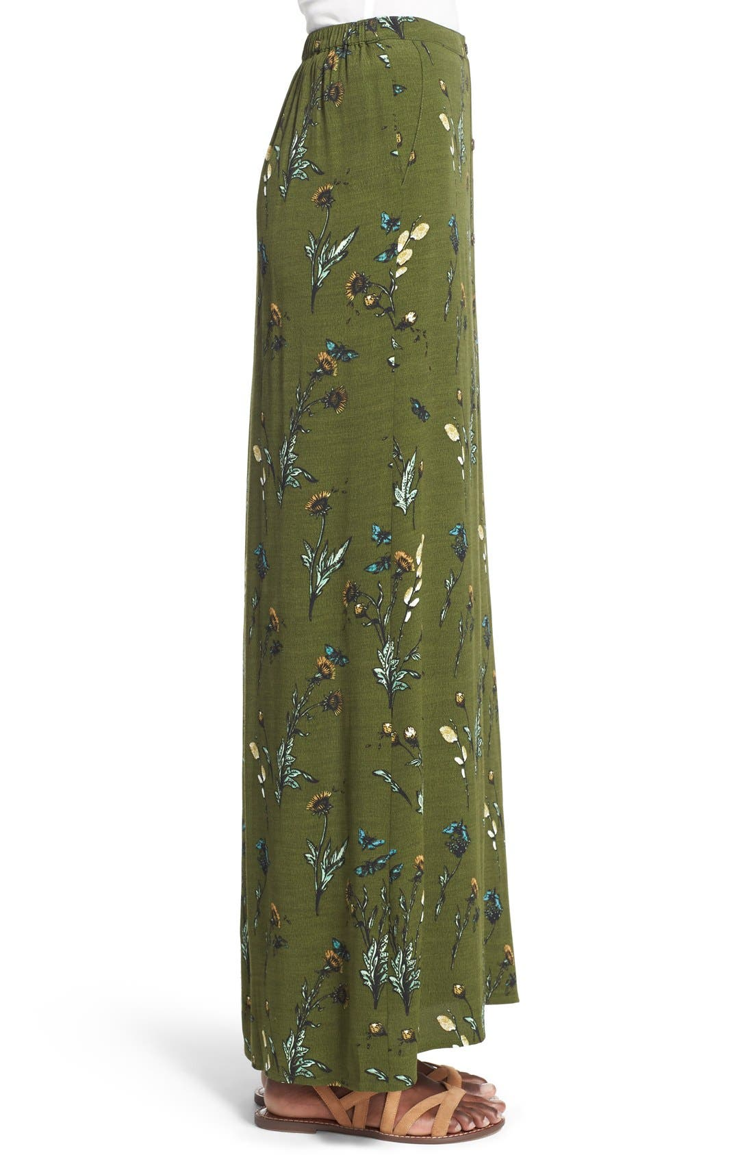 Alternate Image 3  - Hinge Floral Print Maxi Skirt