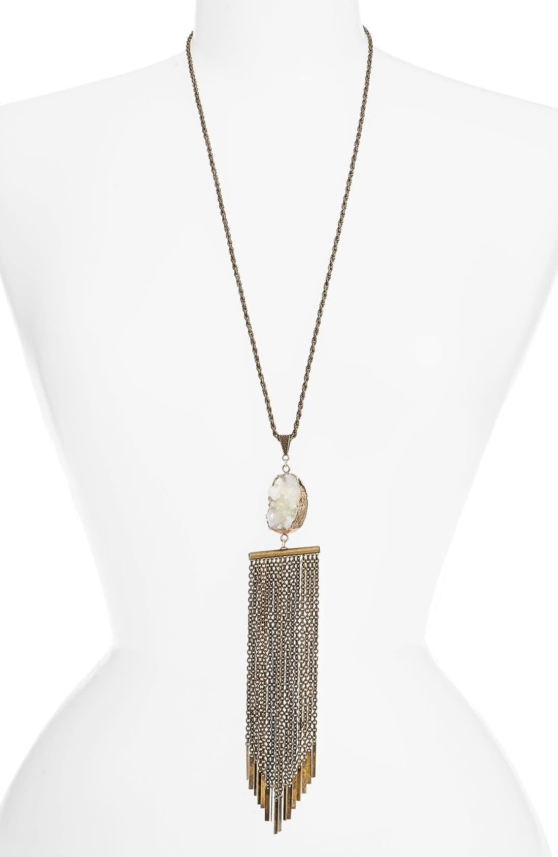 Main Image - Ettika Tassel Chain Statement Necklace
