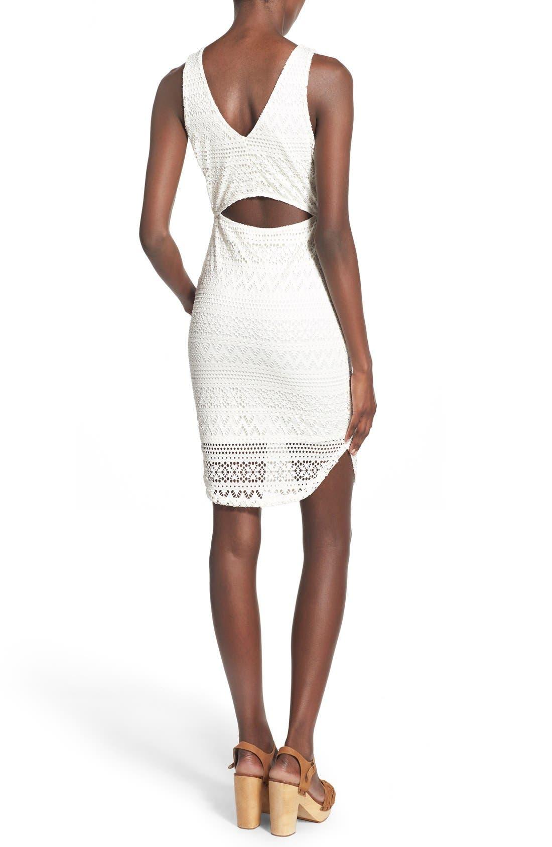 Alternate Image 2  - Lush Lace Open Back Sheath Dress
