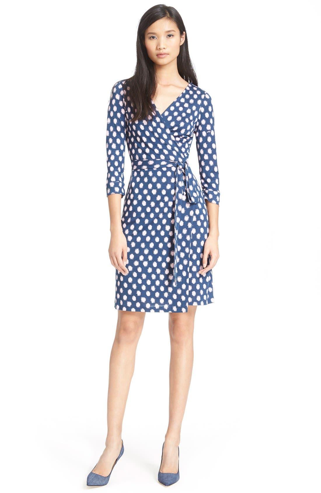 Alternate Image 6  - Diane von Furstenberg 'New Julian Two' Polka Dot Silk Wrap Dress (Nordstrom Exclusive)