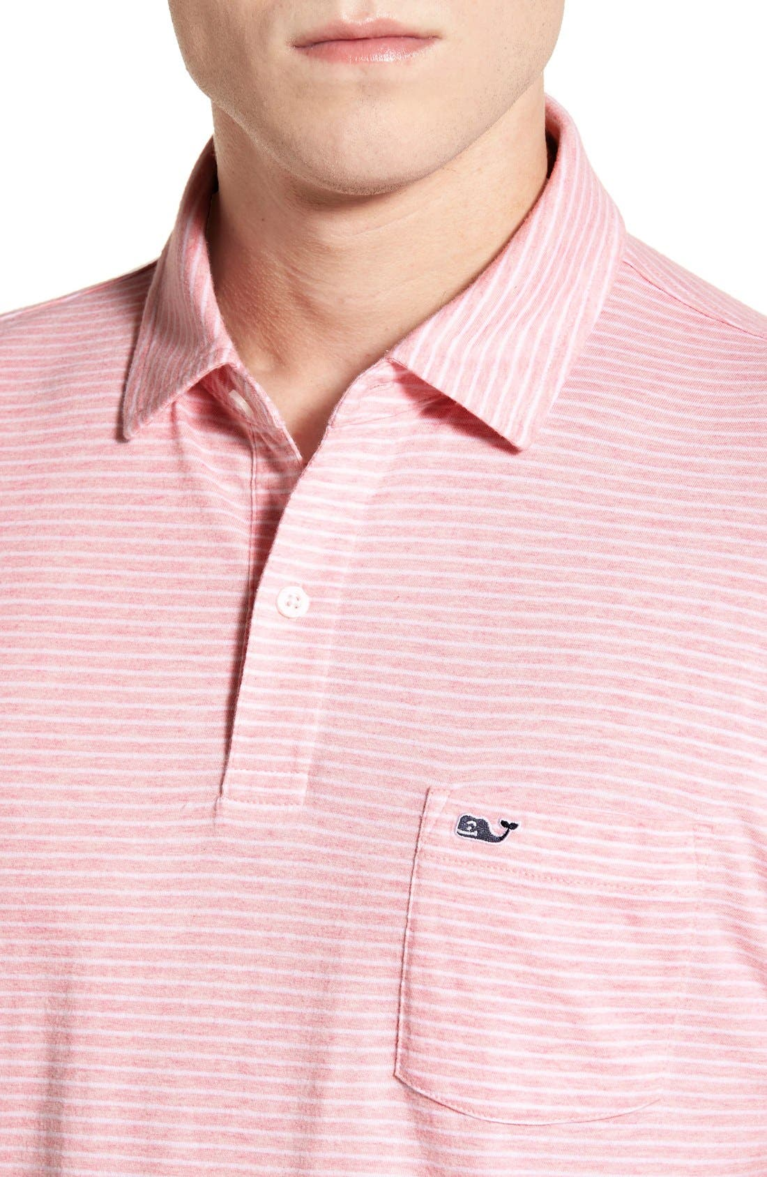 Alternate Image 4  - Vineyard Vines 'Feeder Stripe' Pima Cotton Polo