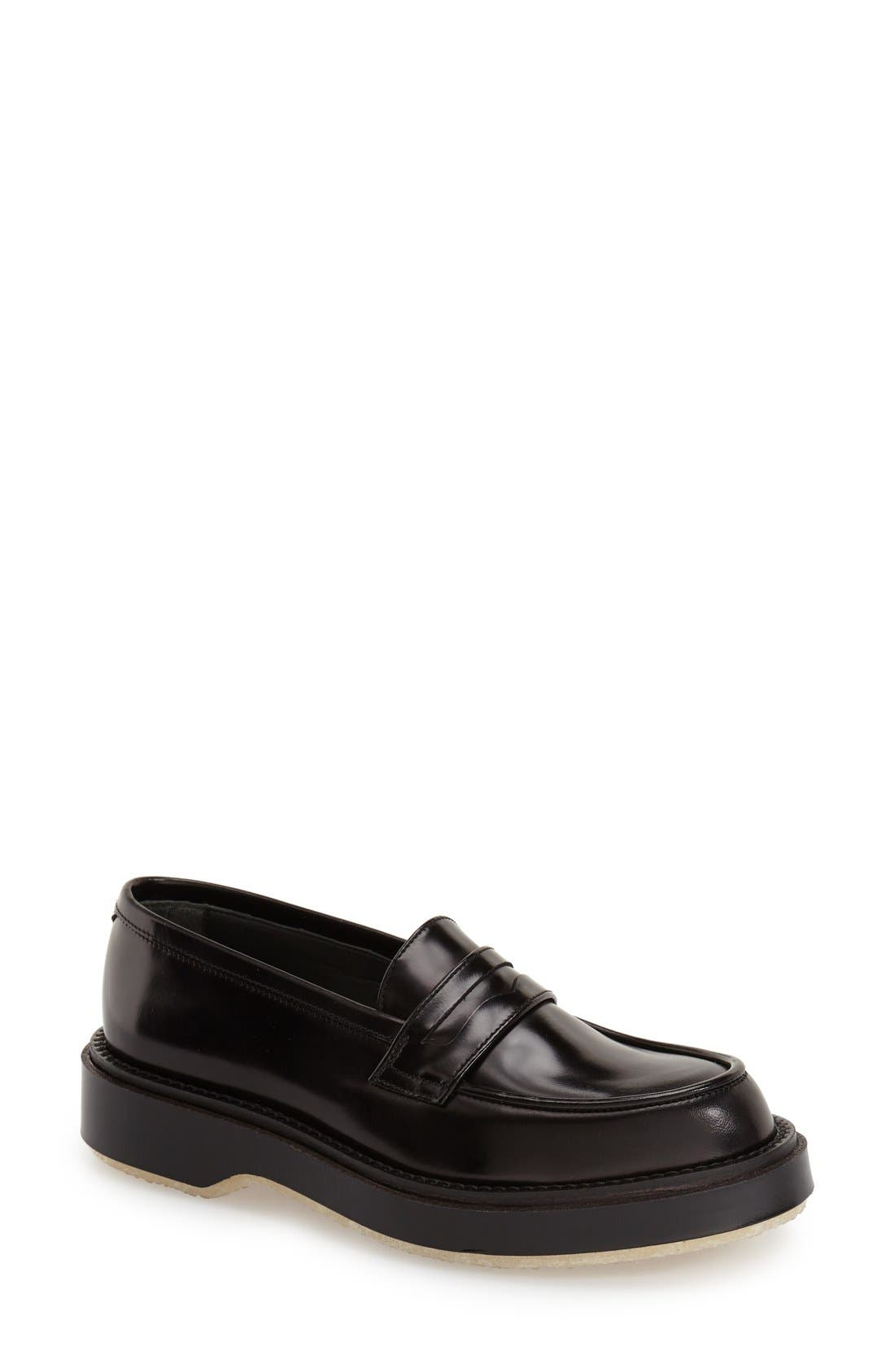 Main Image - Adieu Calfskin Leather Penny Loafer (Women)