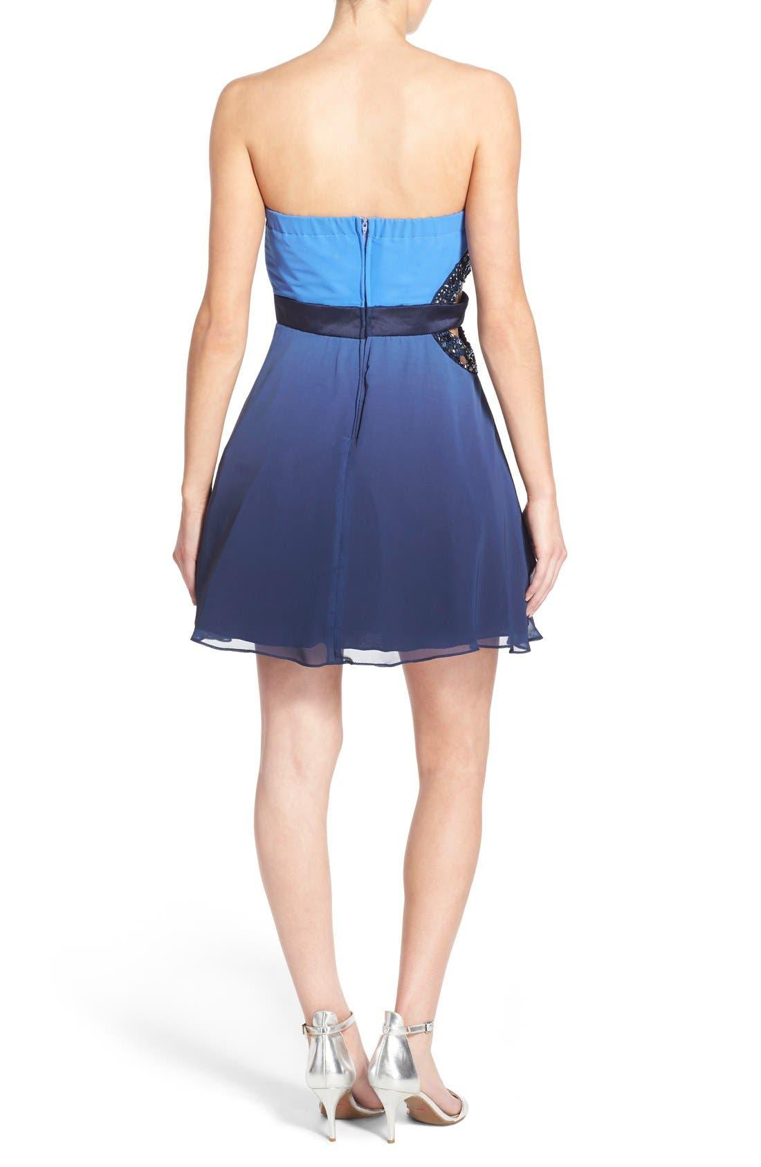 Alternate Image 2  - Dear Moon Embellished Side Cutout Skater Dress