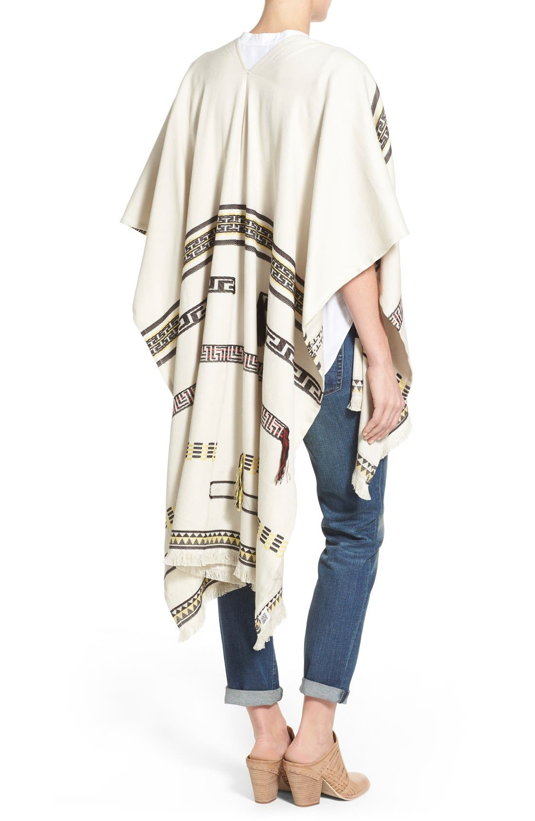 Alternate Image 2  - Tory Burch Convertible Jacquard Poncho