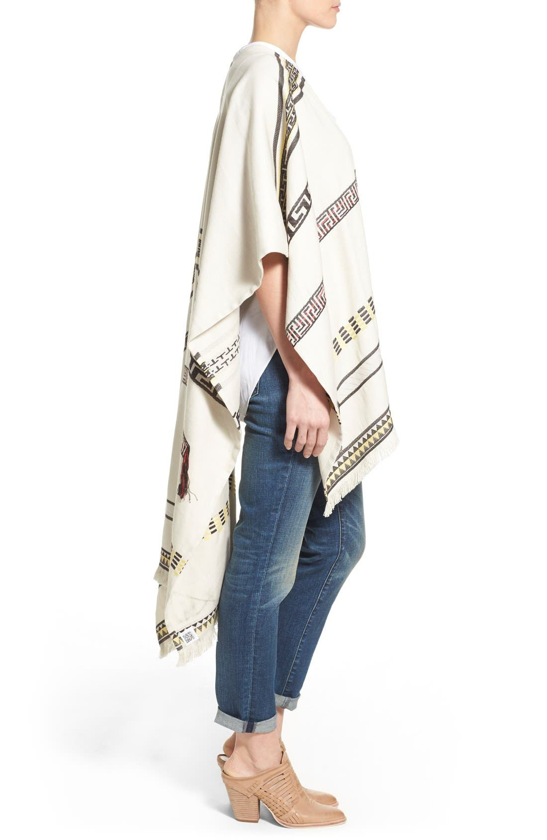 Alternate Image 3  - Tory Burch Convertible Jacquard Poncho