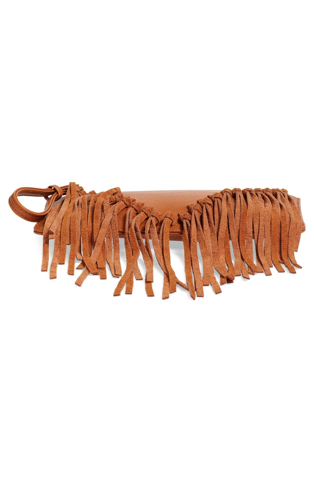 Alternate Image 6  - Sole Society Suede Fringe Clutch