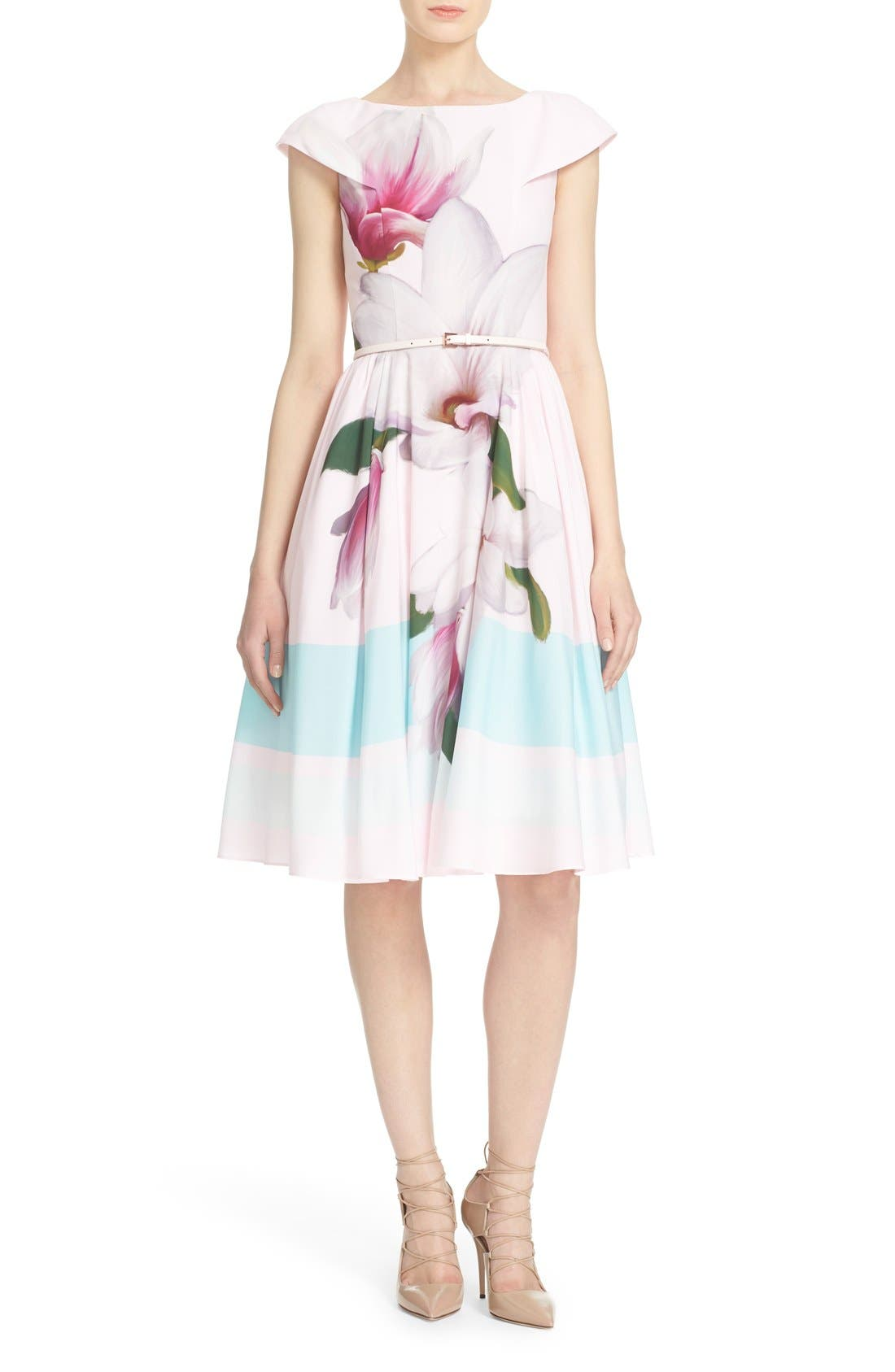 Main Image - Ted Baker London 'Bromlie' Fit & Flare Dress