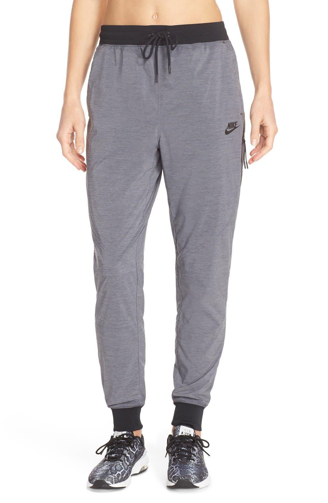 Alternate Image 1 Selected - Nike Bonded Woven Pants