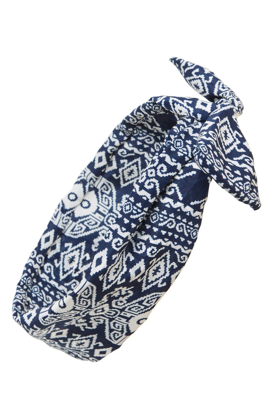 Alternate Image 1 Selected - Cara 'Regatta' Print Head Wrap