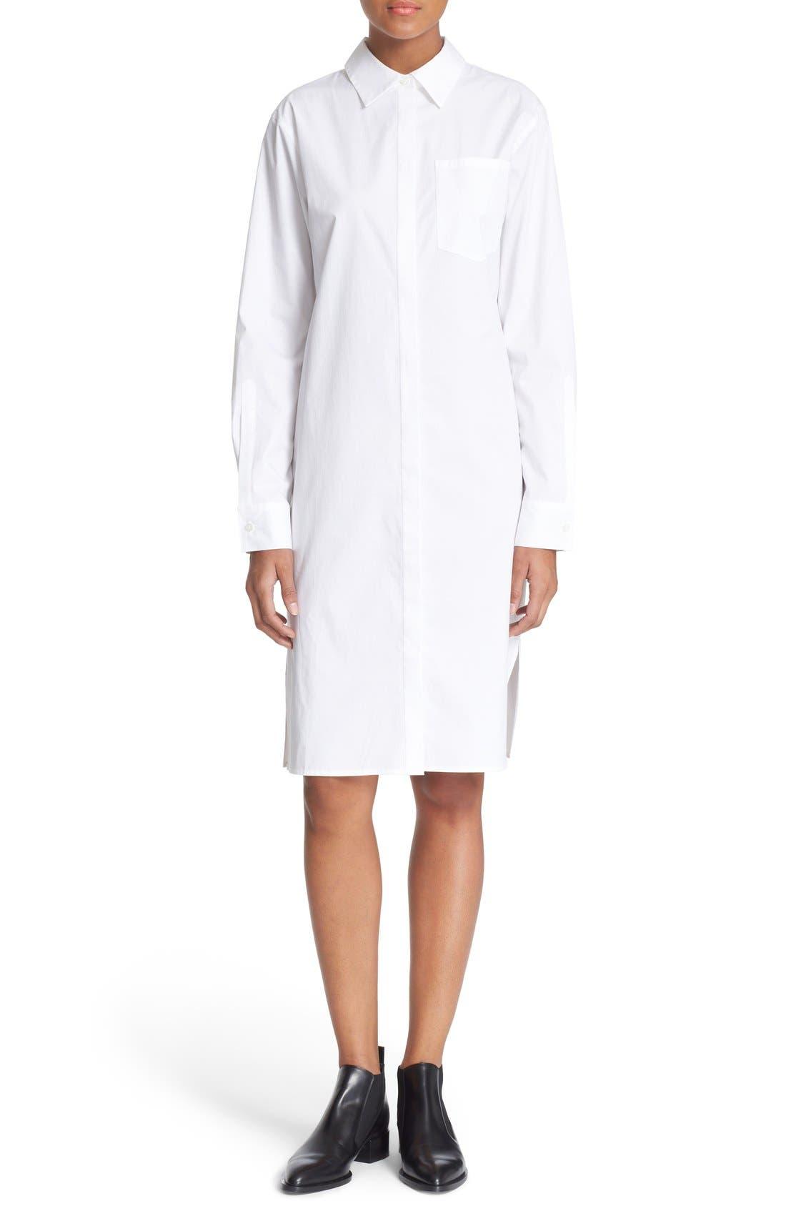 Alternate Image 1 Selected - DKNY Long Sleeve Shirtdress