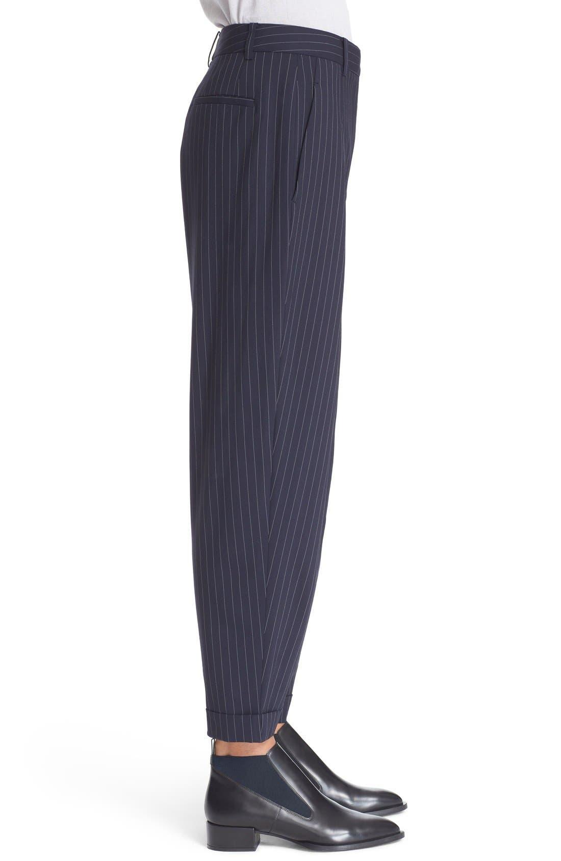 Alternate Image 4  - DKNY Pinstripe Cuff Pants