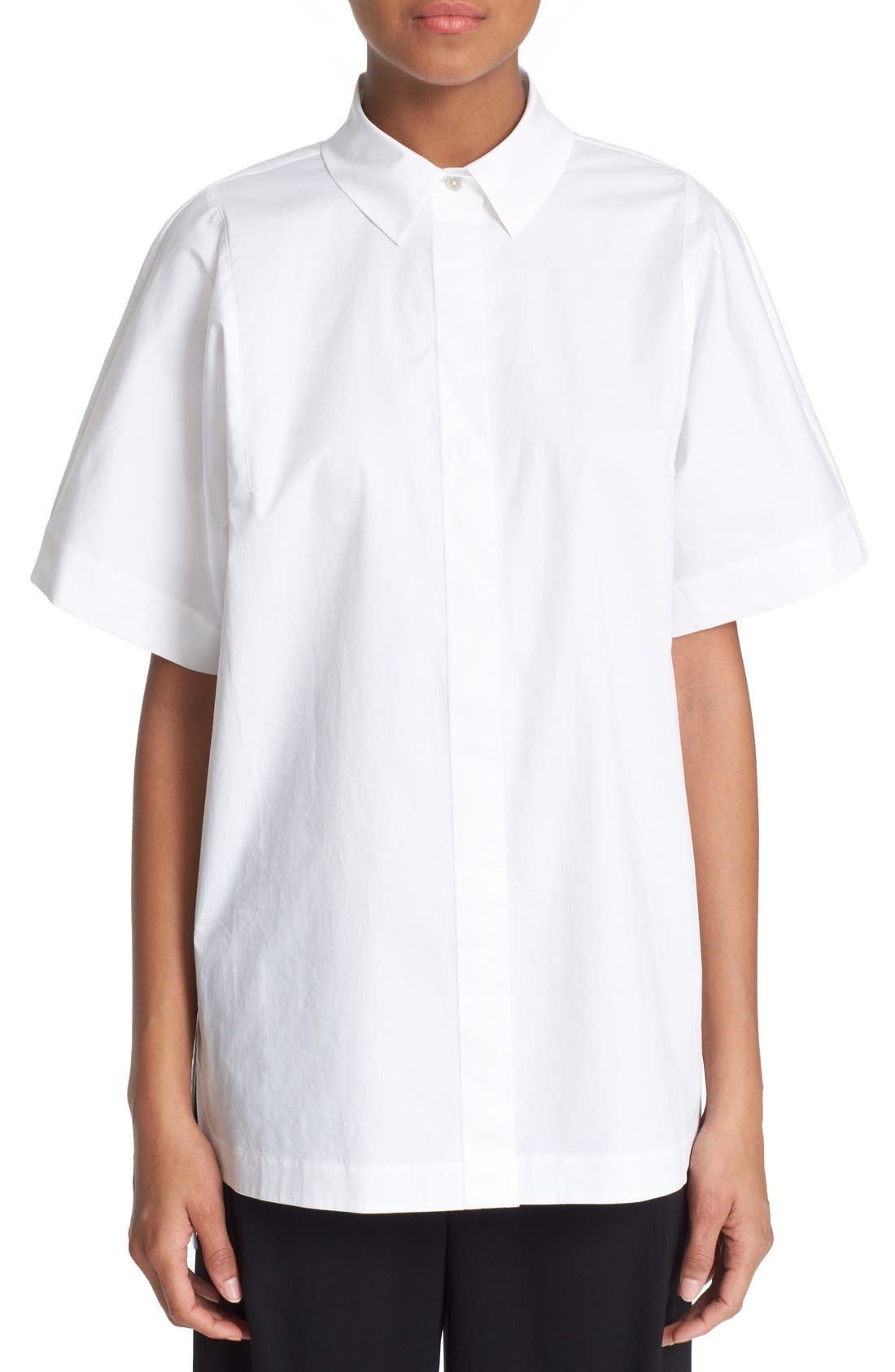Main Image - DKNY Short Sleeve Cotton Shirt