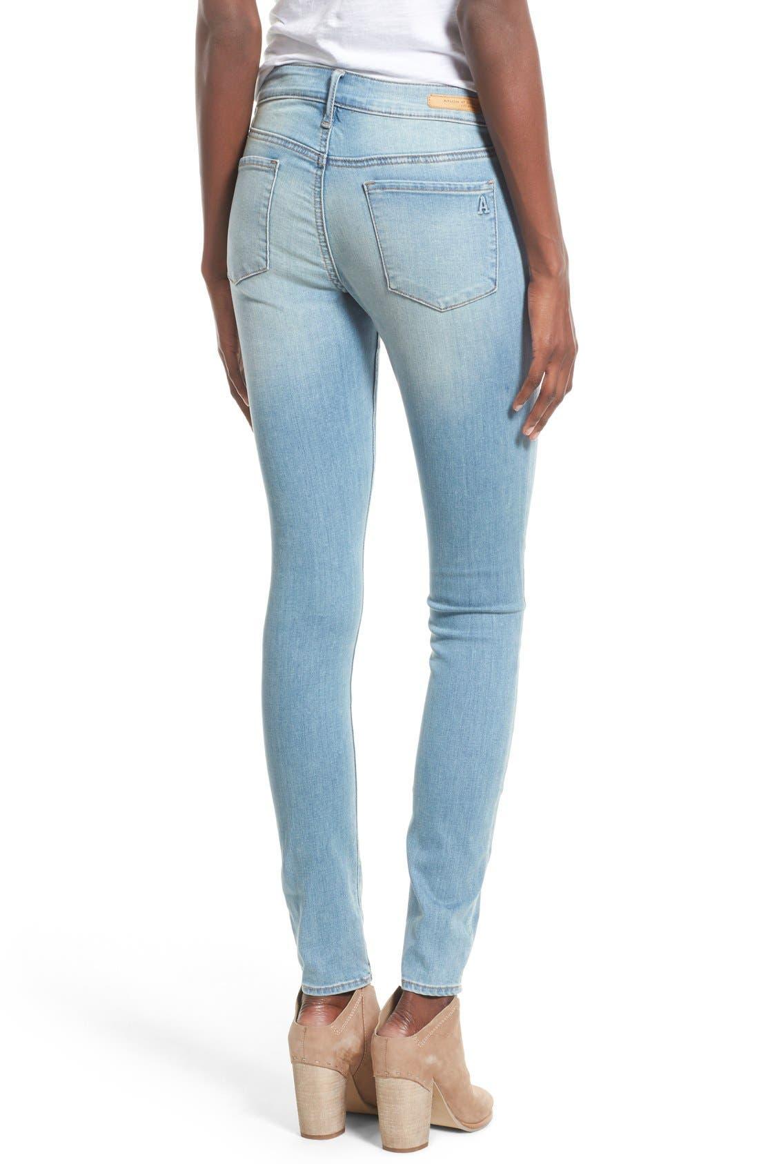 Alternate Image 2  - Articles of Society 'Mya' Skinny Jeans (Indigo Wash)