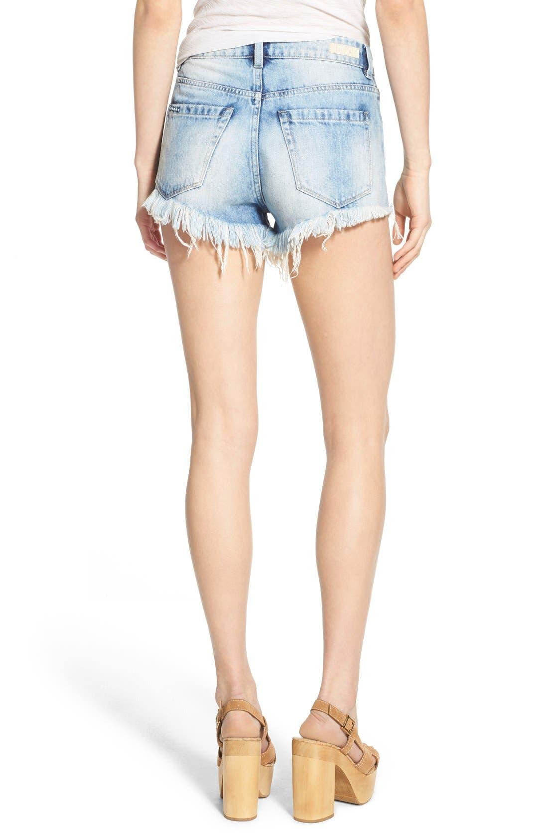 Alternate Image 2  - BLANKNYC Distressed Cutoff Denim Shorts (All Night Long)
