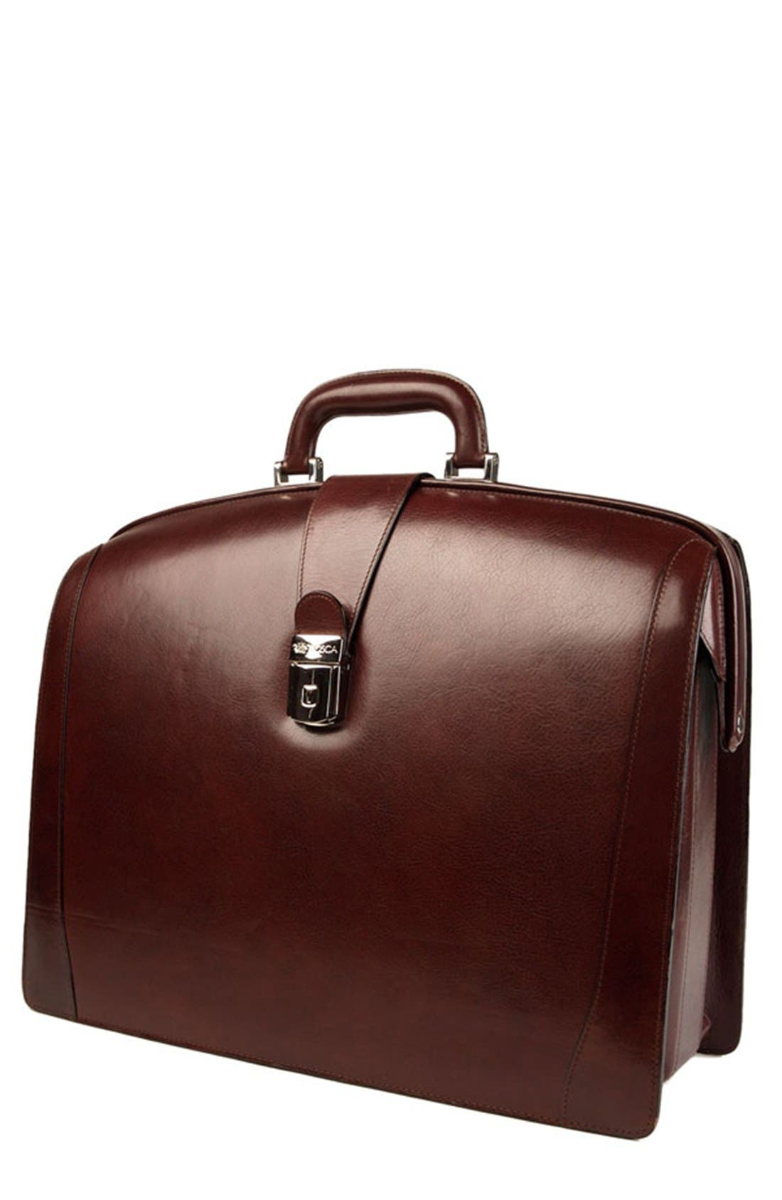 Alternate Image 1 Selected - Bosca Triple Compartment Leather Briefcase