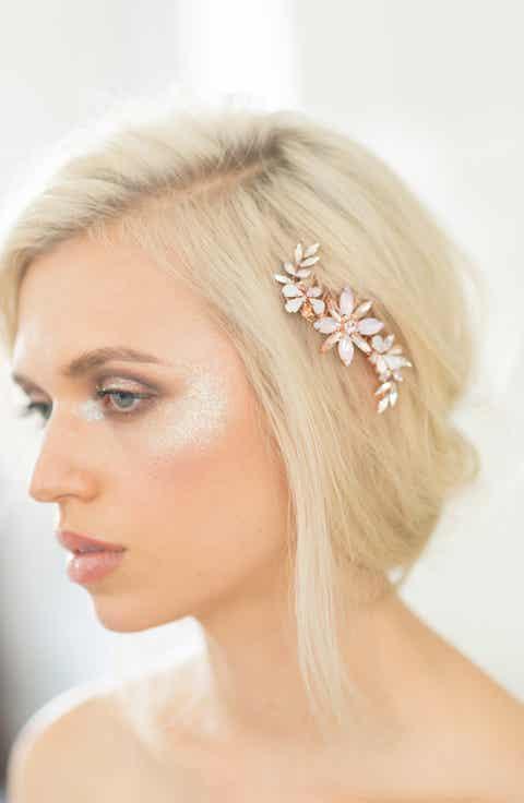 Camilla Christine Large Crystal Flower Comb