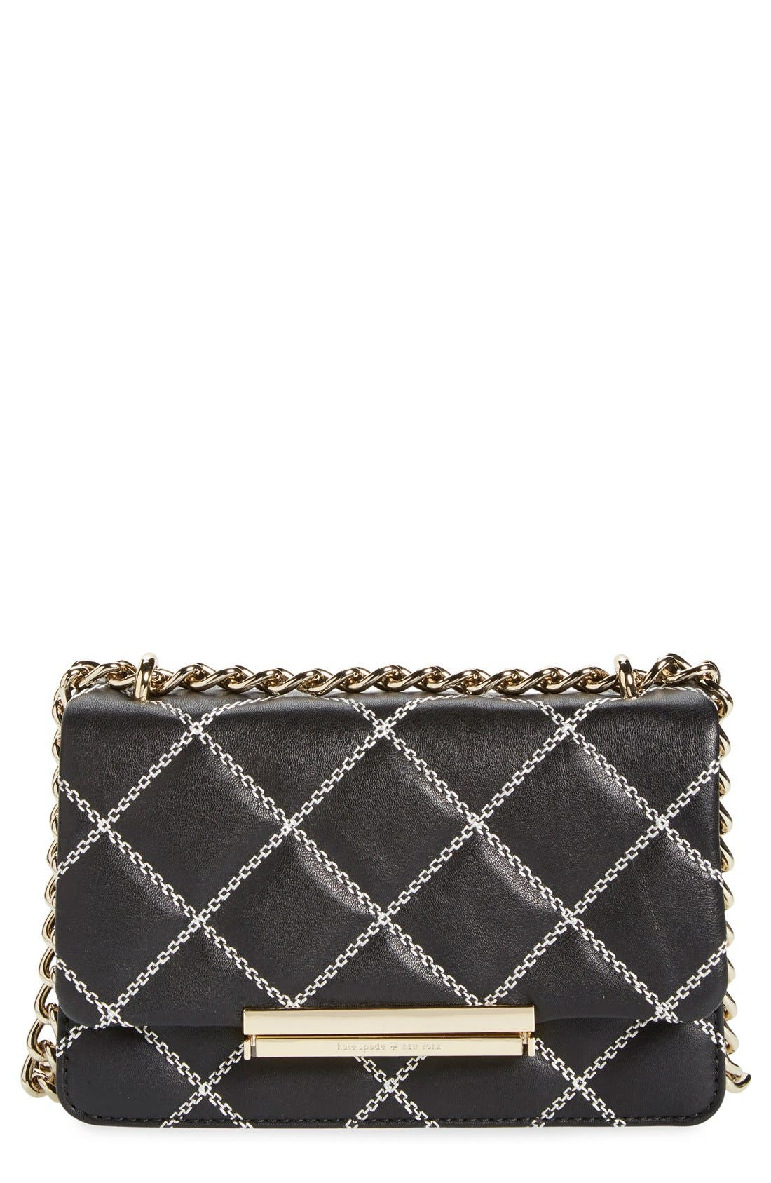 Alternate Image 1 Selected - kate spade new york 'emerson place - mini lawren' quilted leather crossbody bag