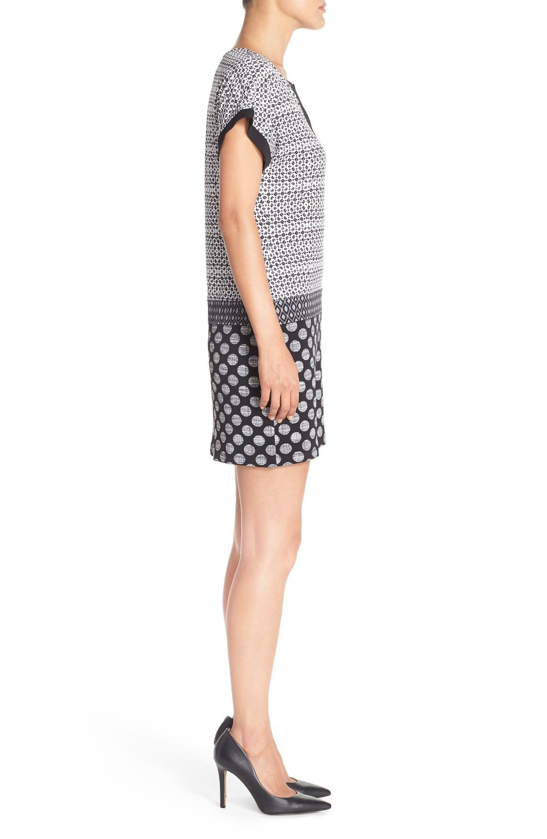 Alternate Image 3  - London Times Mixed Print Jersey Shift Dress