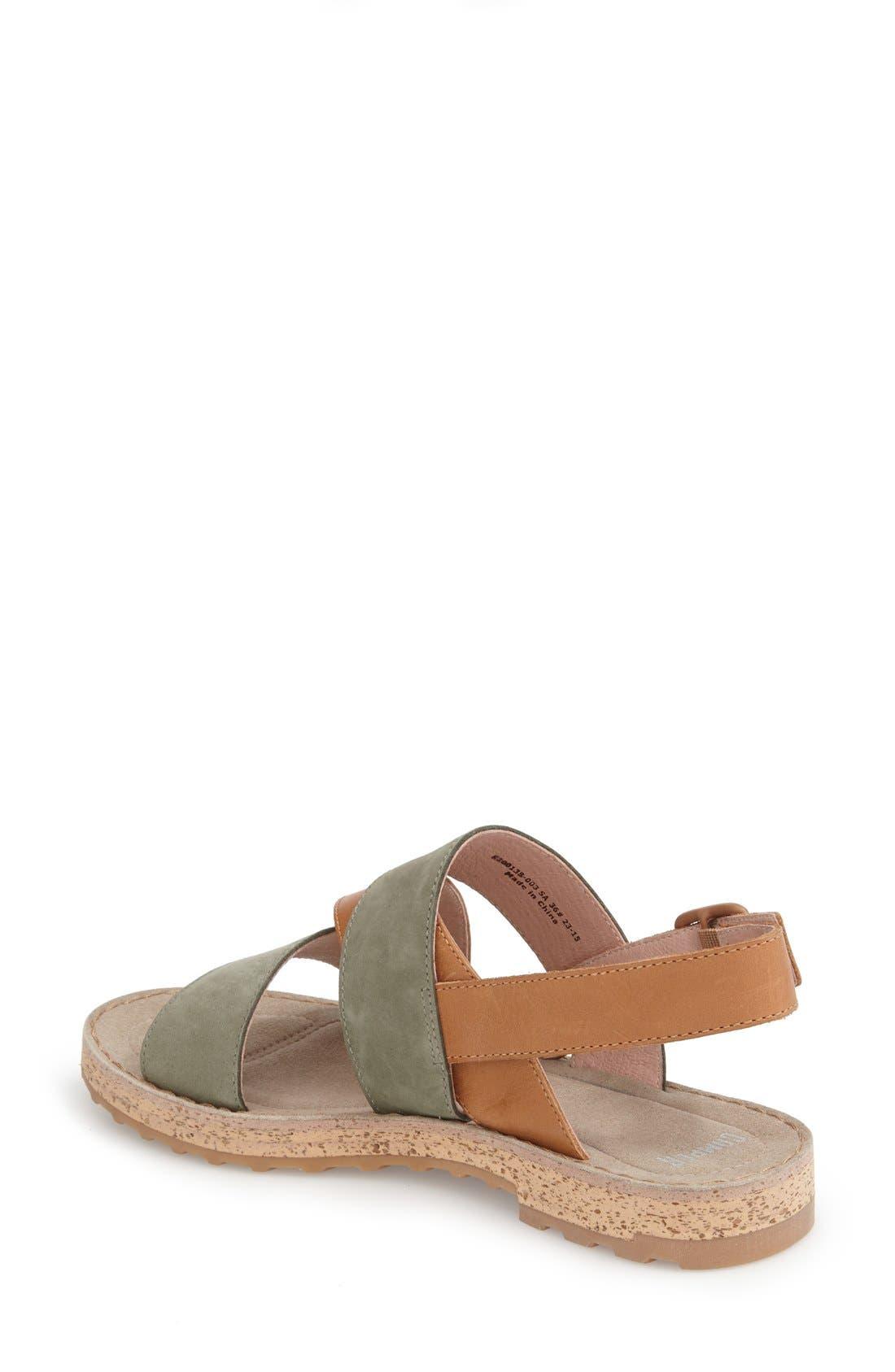 Alternate Image 2  - Camper 'Pimpom' Leather & Suede Crisscross Strap Sandal (Women)