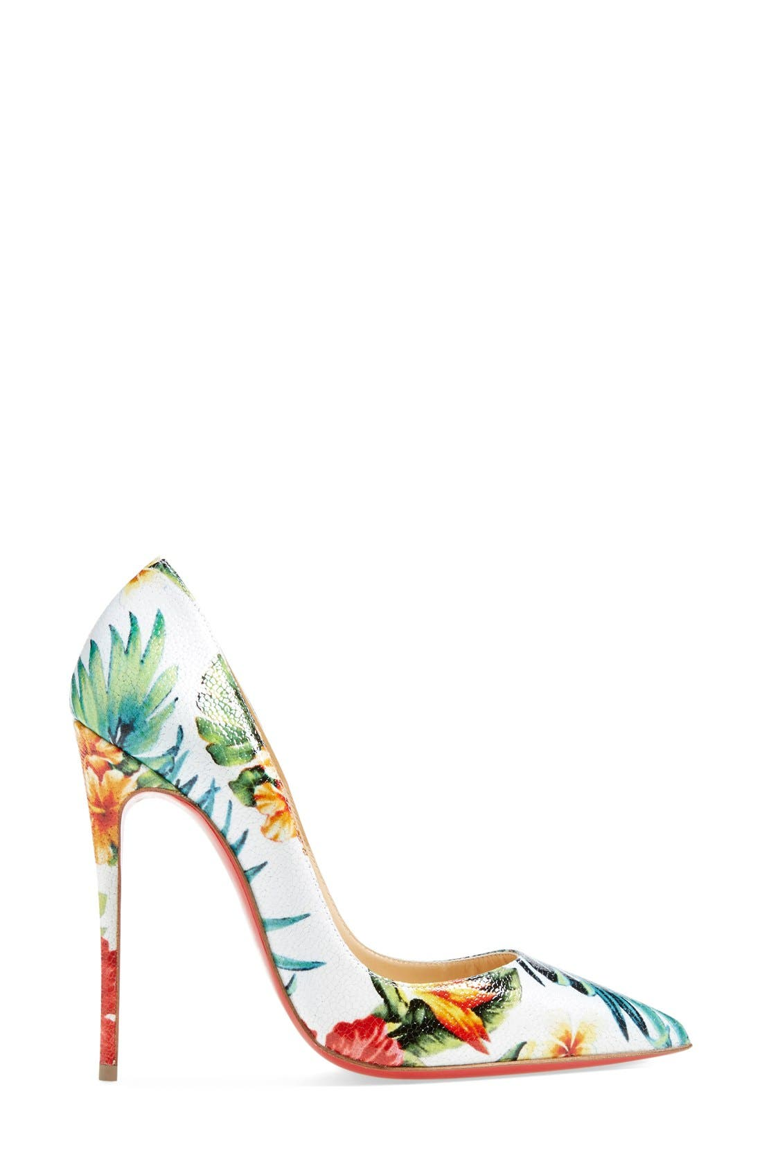 Alternate Image 4  - Christian Louboutin 'So Kate - Hawaii' Print Pointy Toe Pump (Women)