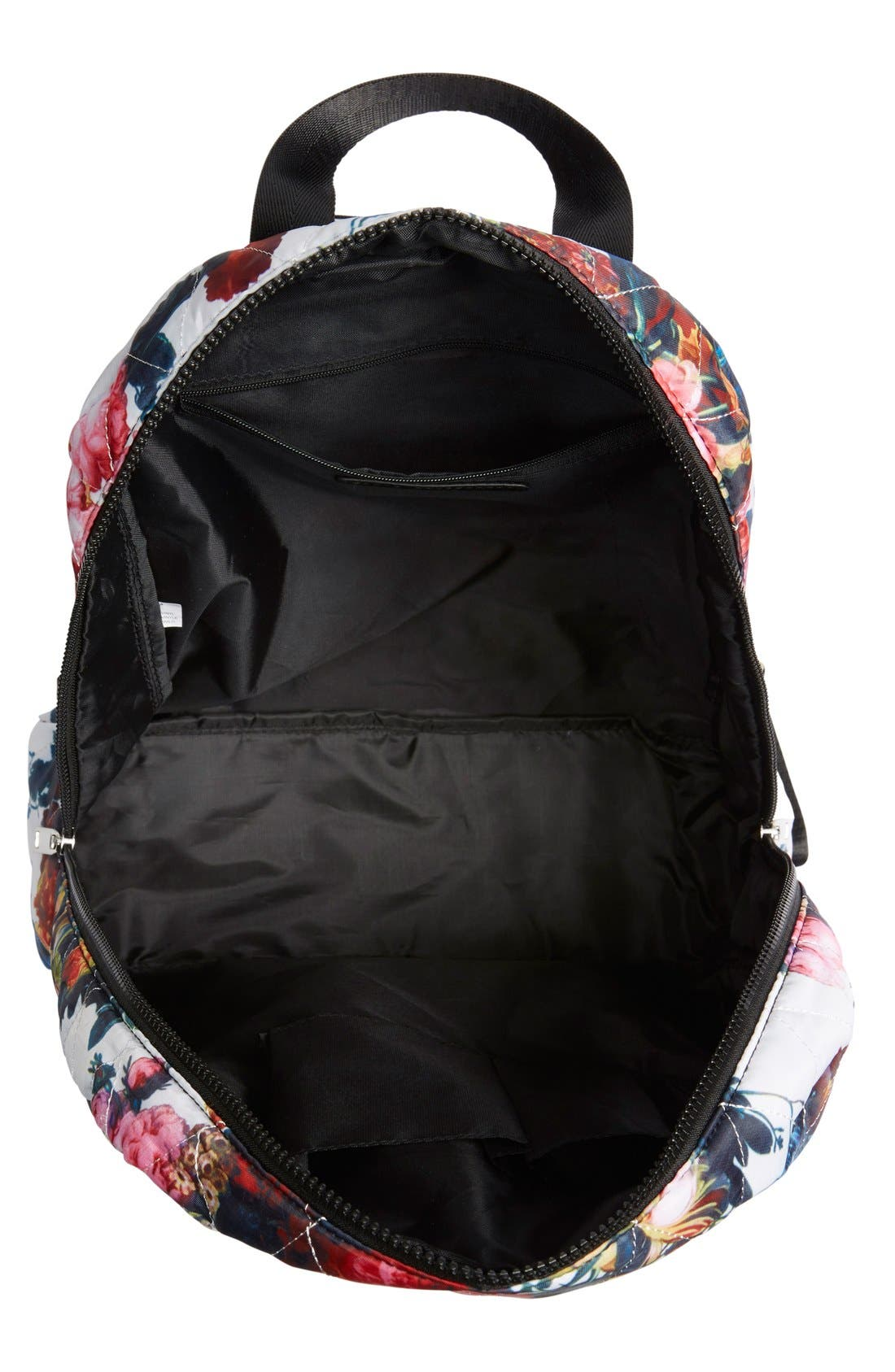 Alternate Image 4  - Dolce Girl 'Dome' Floral Print Quilted Backpack