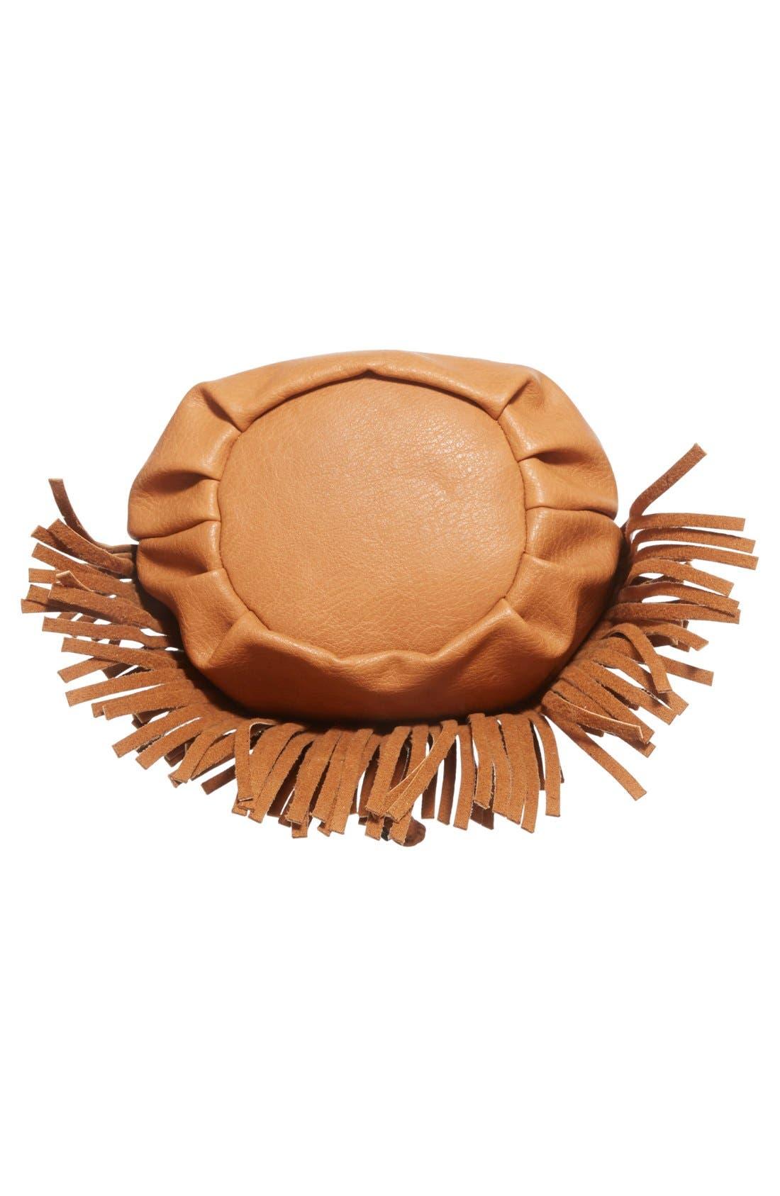 Alternate Image 6  - Sole Society Mini Fringe Faux Leather Bucket Bag