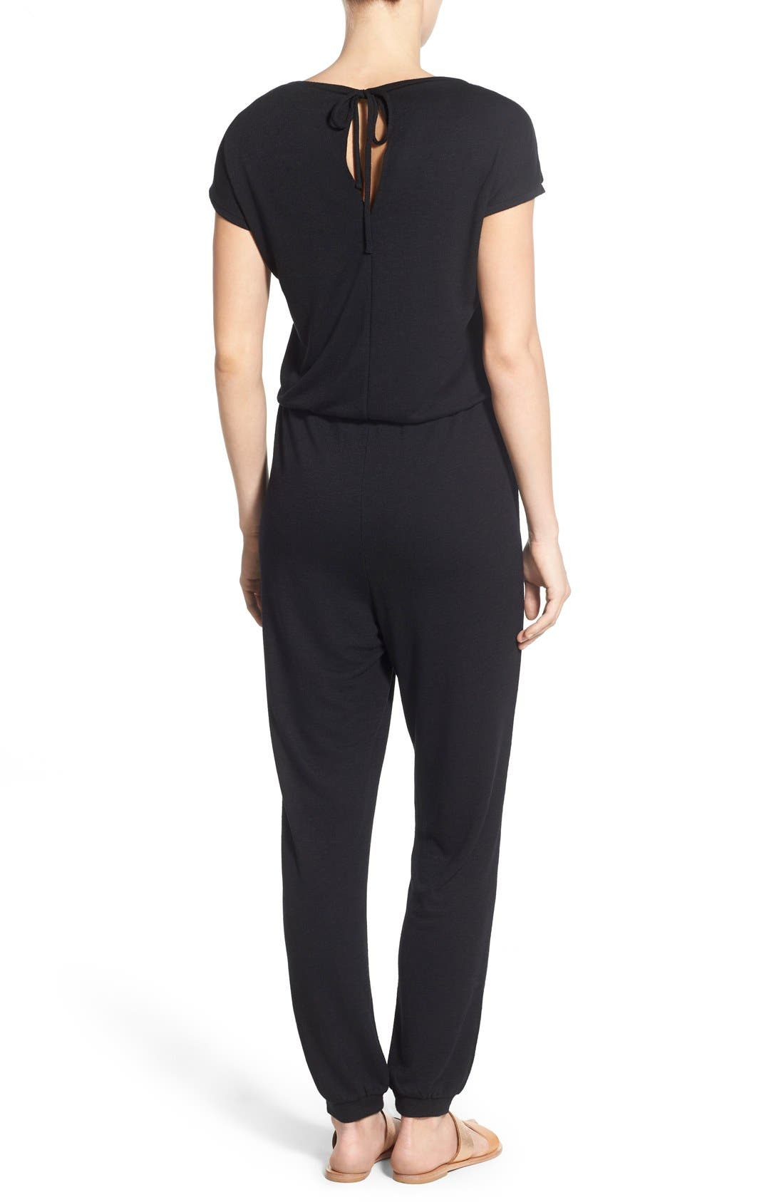 Alternate Image 2  - Caslon® Knit Blouson Jumpsuit (Regular & Petite)