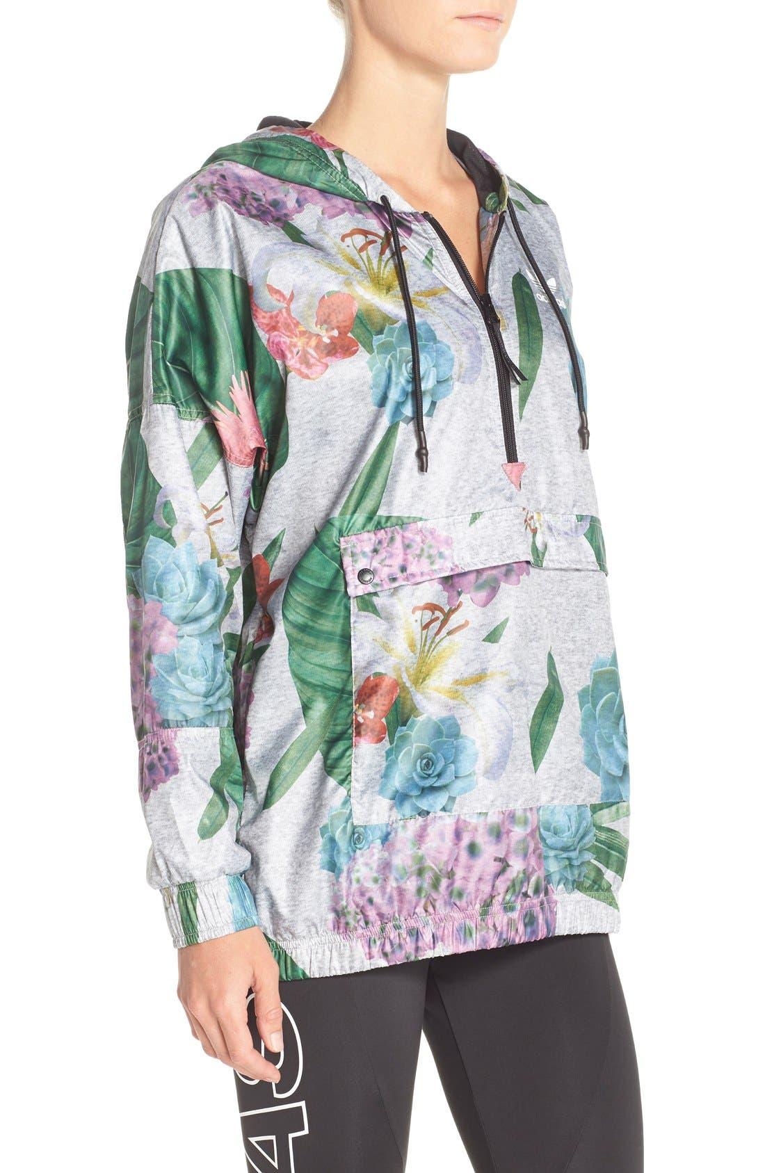 Alternate Image 3  - adidas Originals 'Training' Floral Windbreaker Jacket