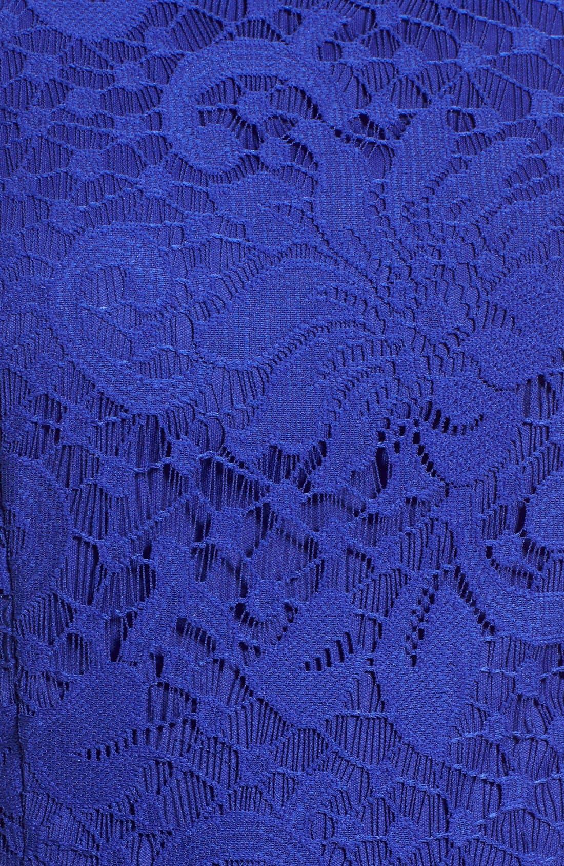 Alternate Image 5  - Speechless Lace High Neck Skater Dress
