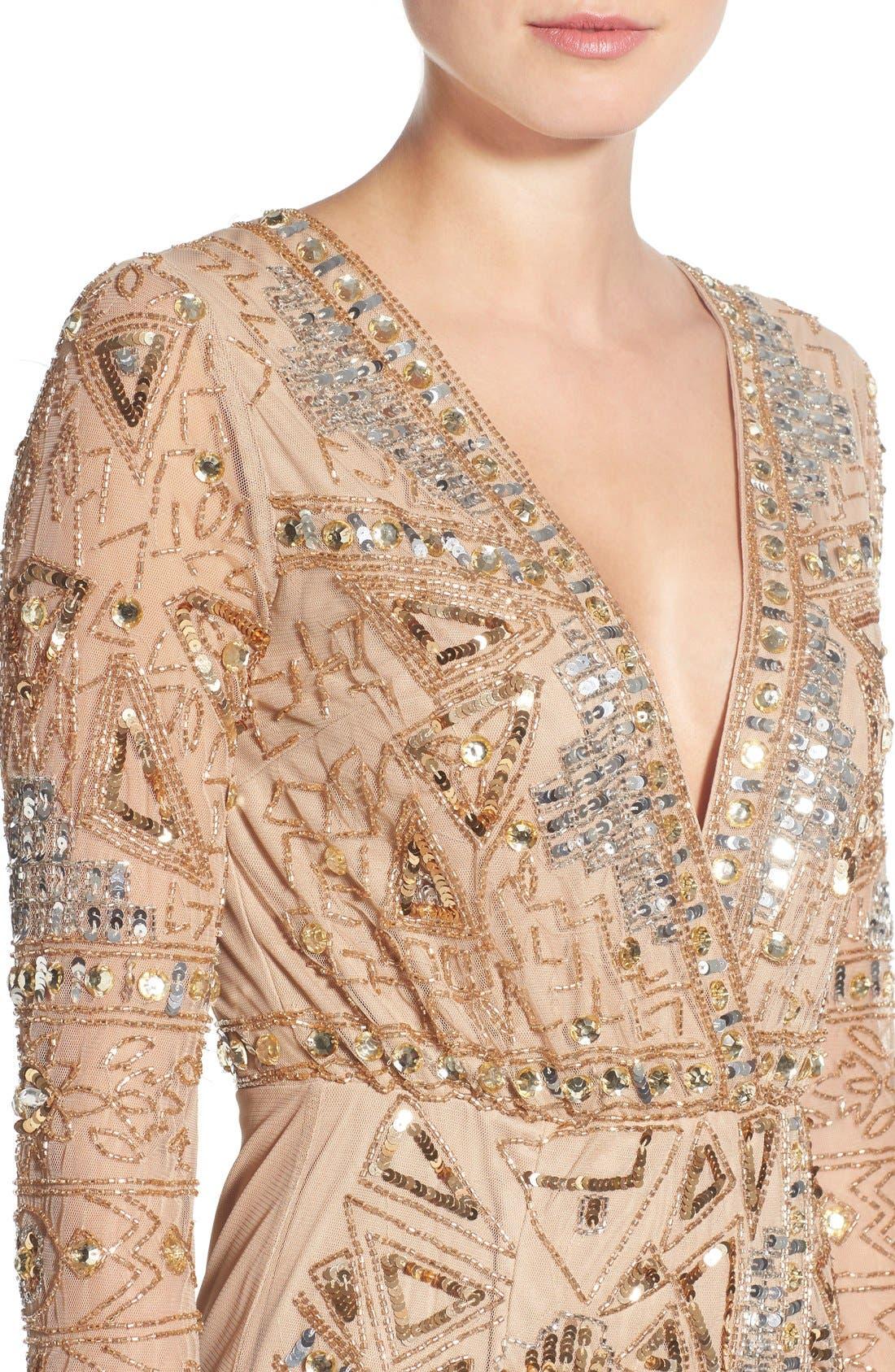 Alternate Image 4  - Missguided Embellished Plunge Wrap Dress