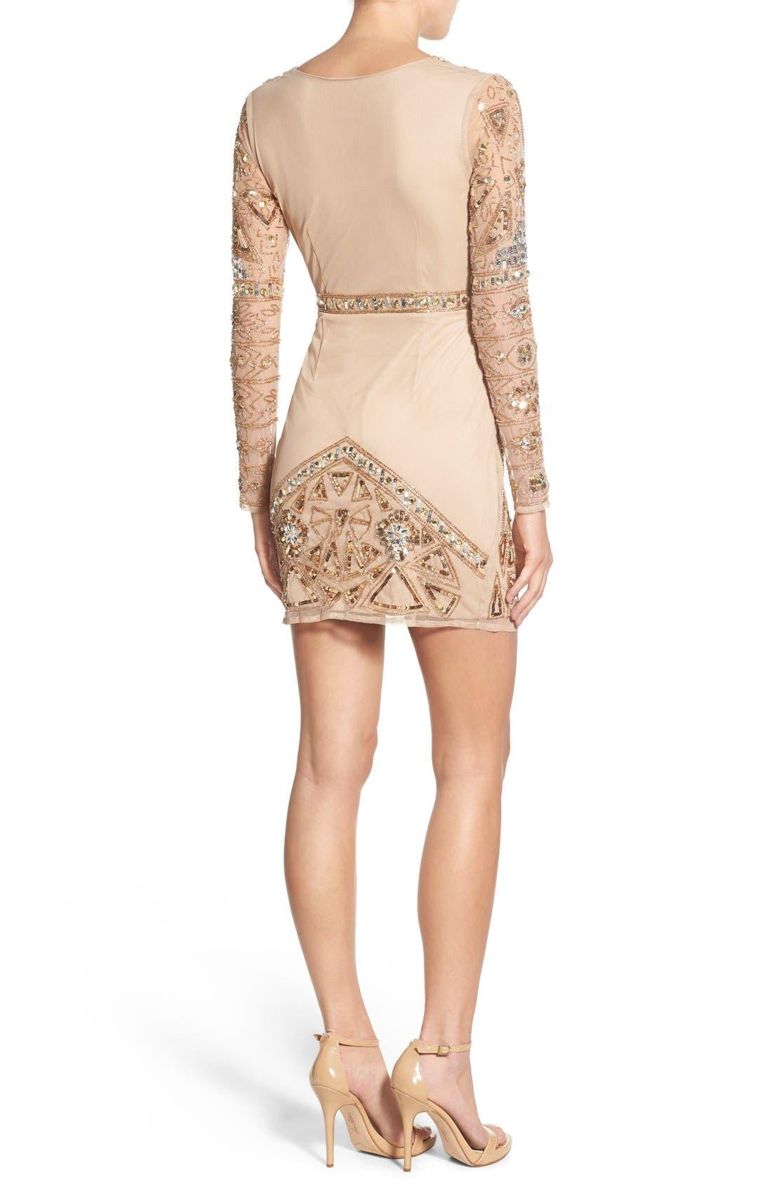 Alternate Image 2  - Missguided Embellished Plunge Wrap Dress