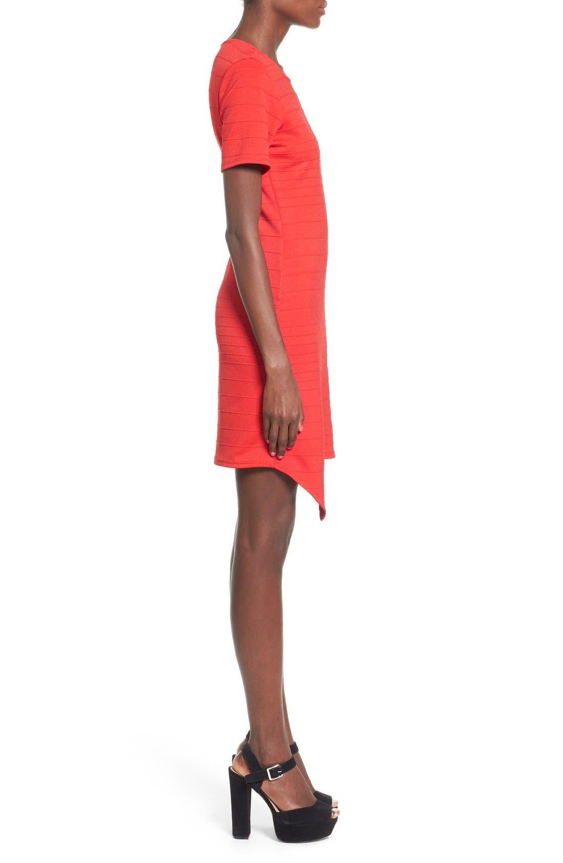 Alternate Image 3  - June & Hudson Short Sleeve Asymmetrical Wrap Front Dress