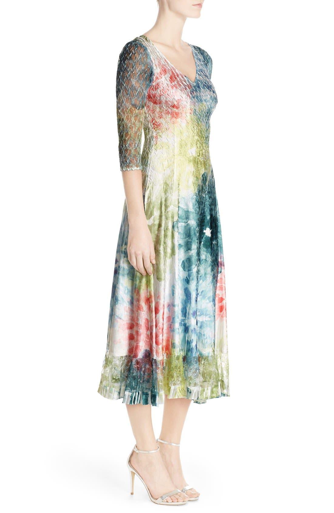 Alternate Image 3  - Komarov Mixed Media A-Line Dress (Regular & Petite)