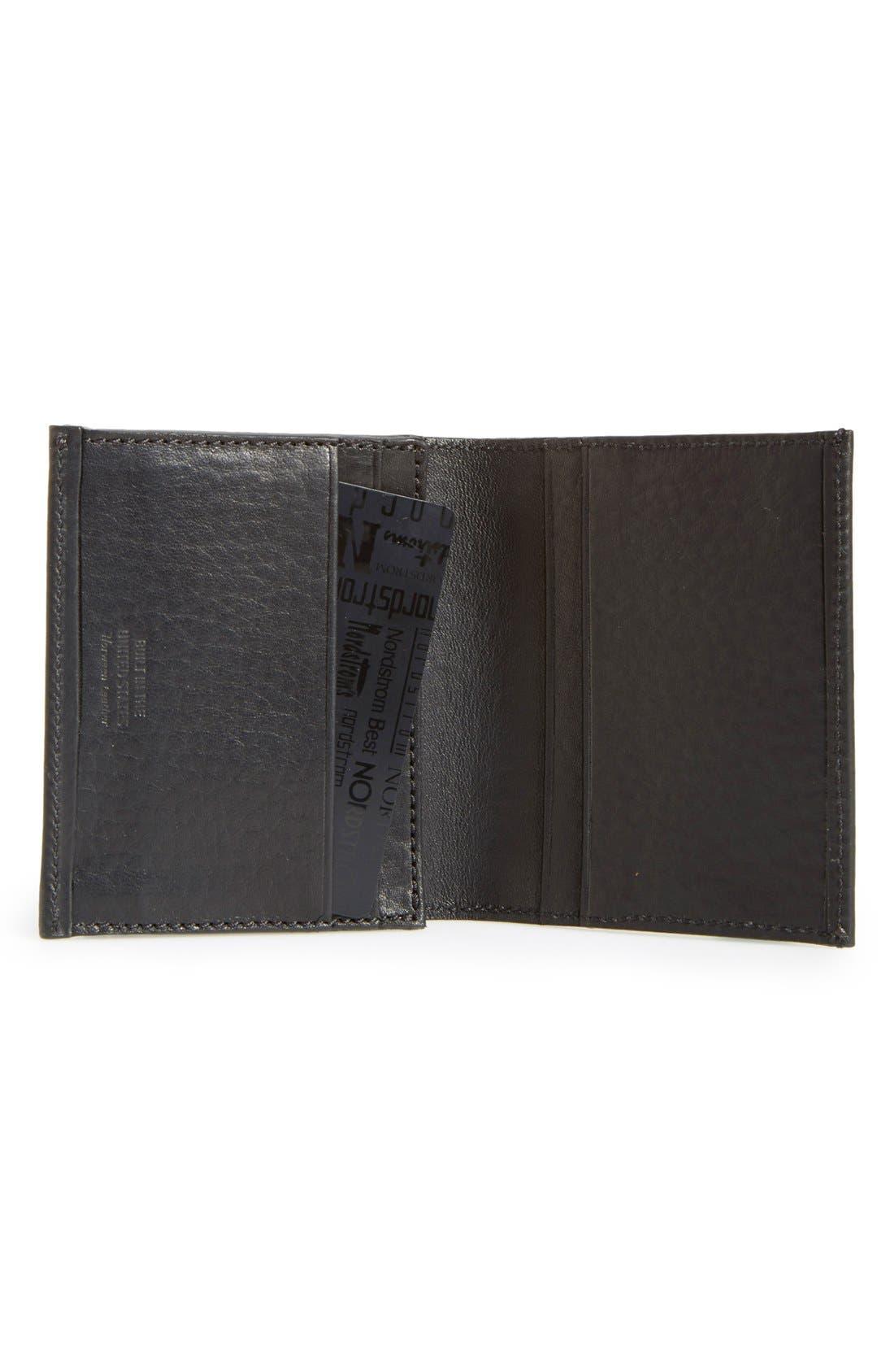 Alternate Image 2  - Shinola Gusset Leather Card Case