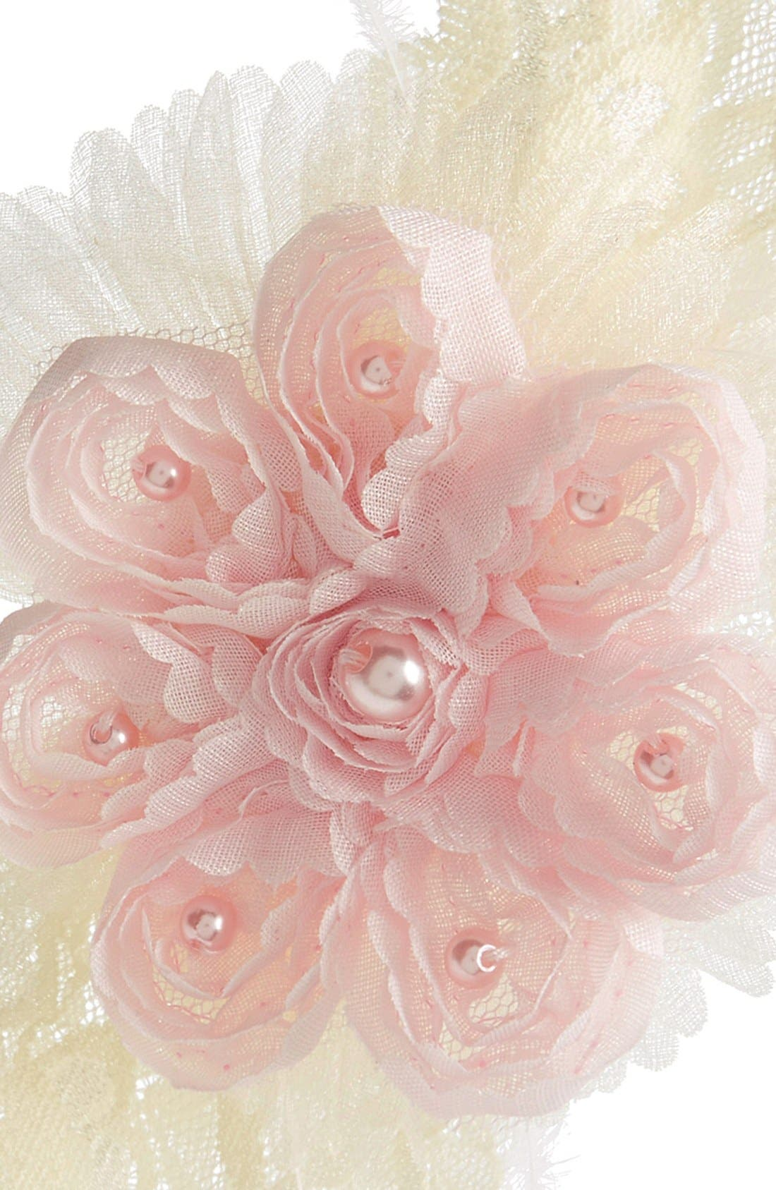 Alternate Image 2  - PLH Bows & Laces Headband (Baby Girls & Toddler Girls)